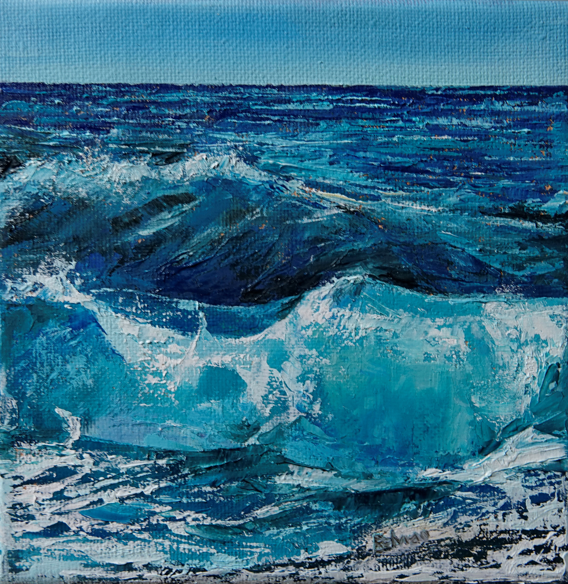 Turquoise Waves by Silvia Belviso