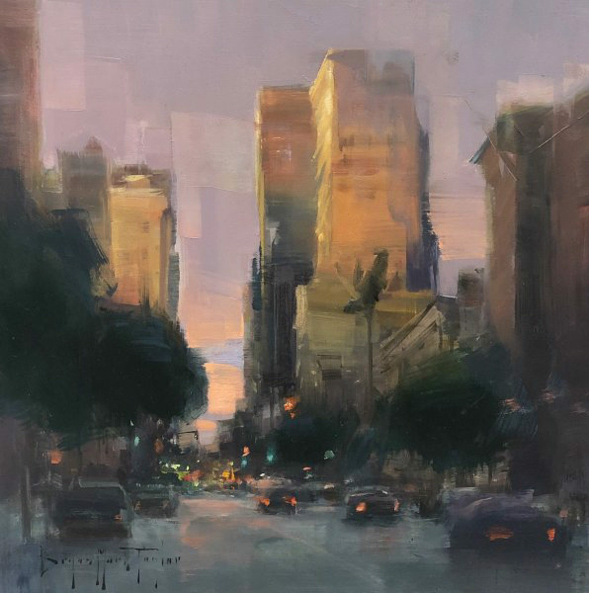 Bryan Mark Taylor: San Diego Downtown Sunset by Bryan Mark Taylor