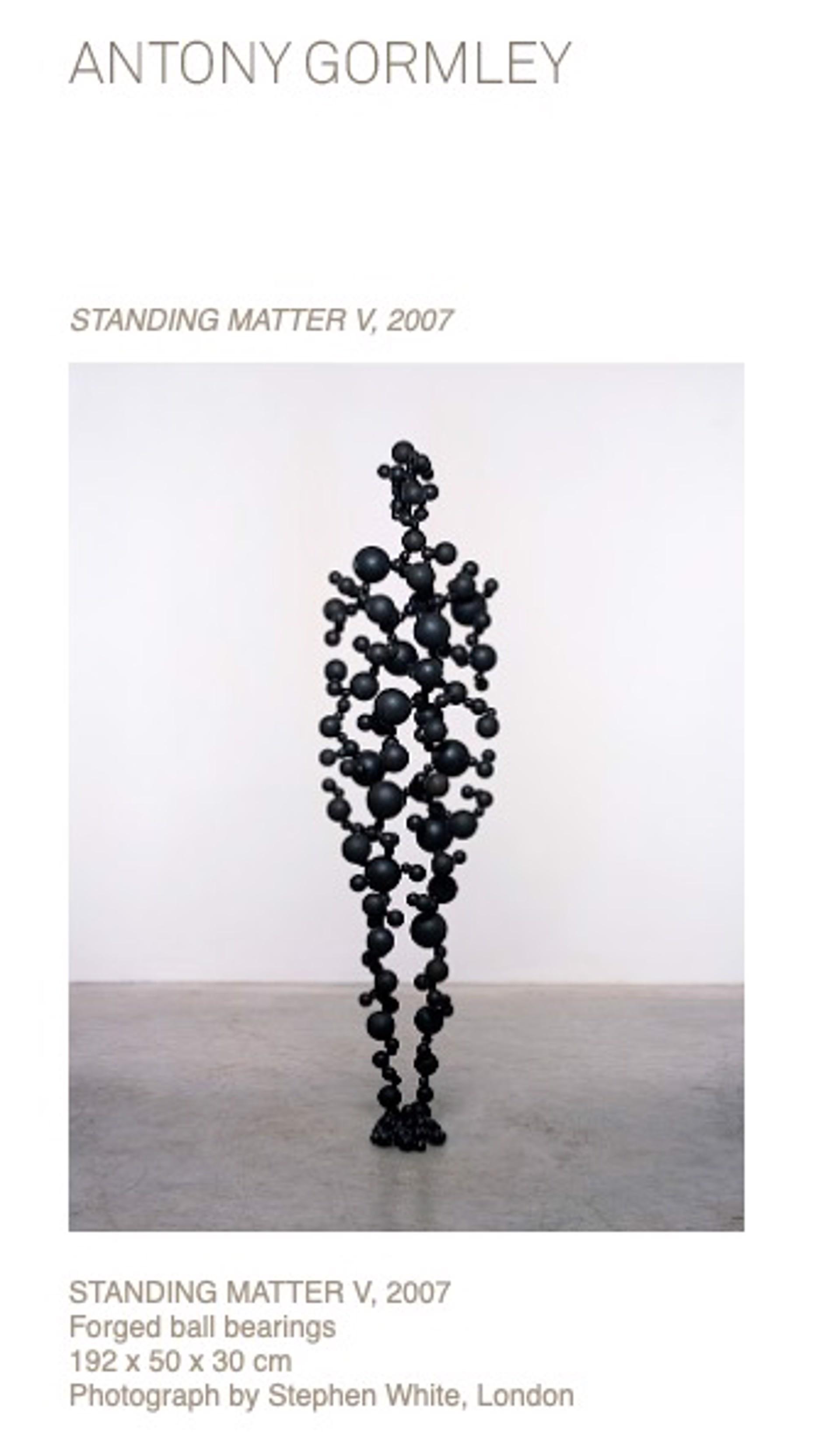 Standing Matter by Antony Gormley