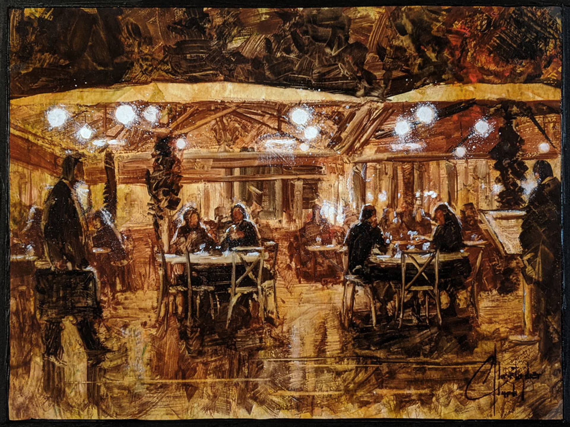 Barcelona Cafe by Christopher Clark