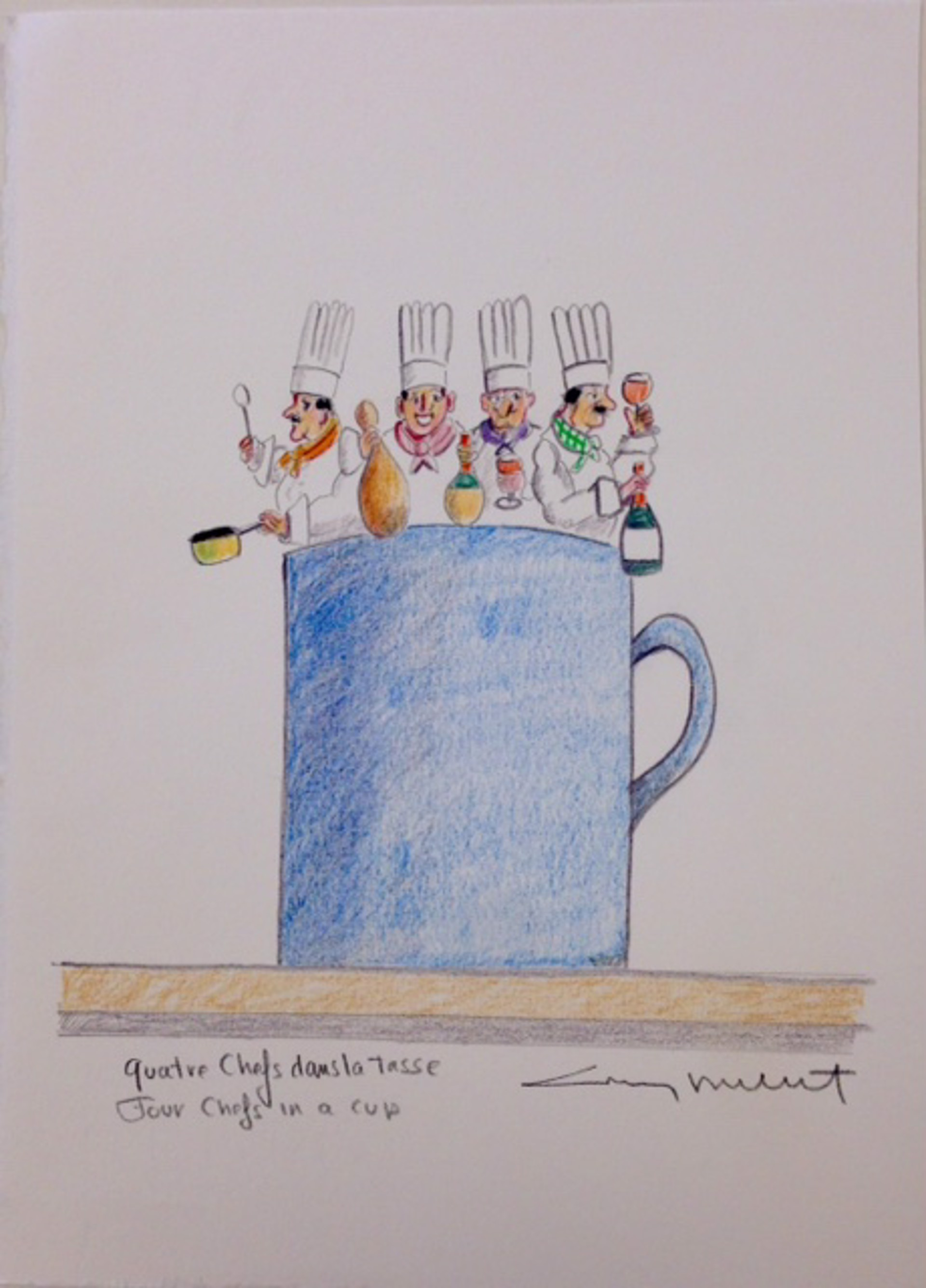 Quatre Chefs Dansla Tasse by Guy Buffet