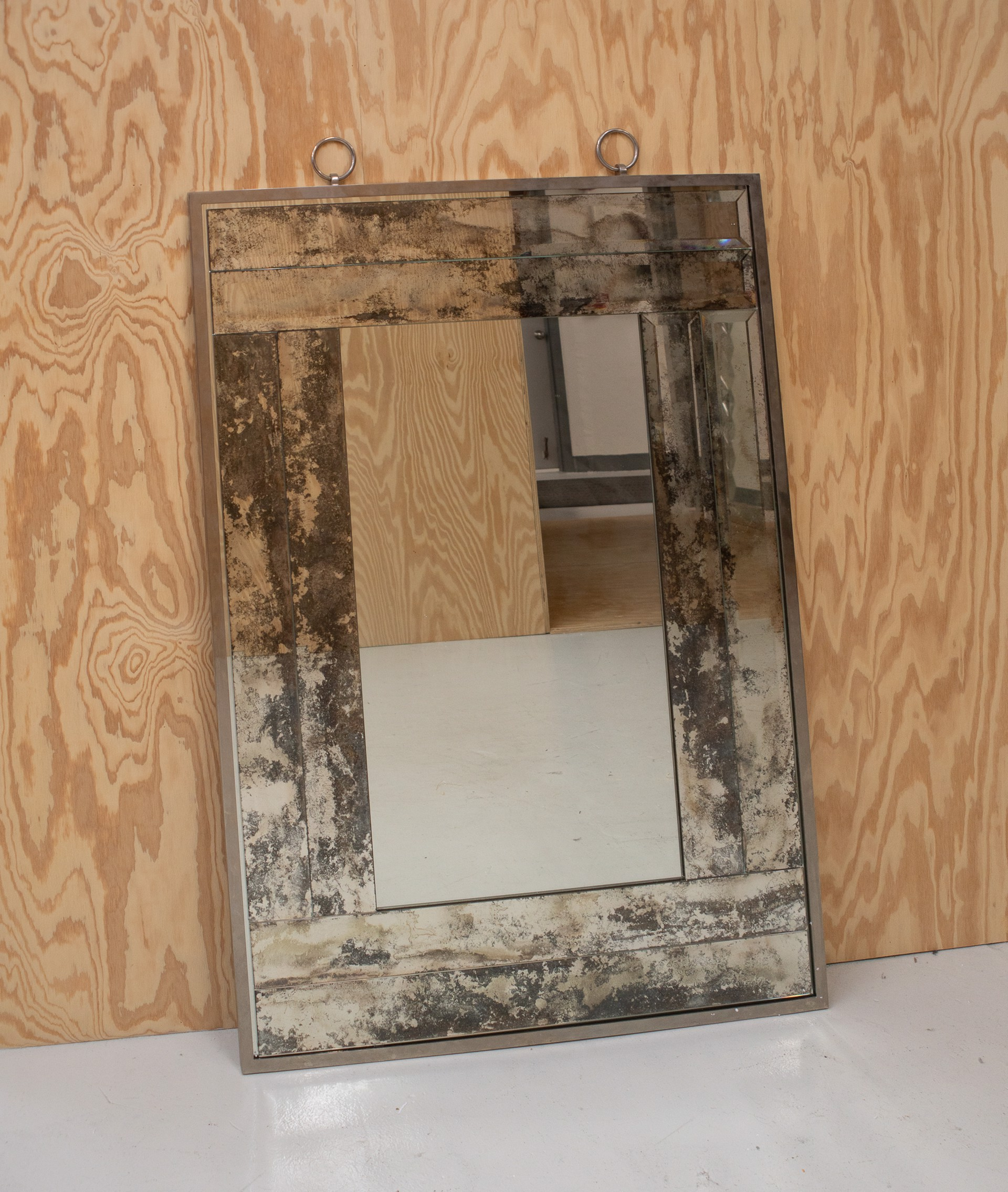 Antique mirror framed Mirror by Andre Hayat