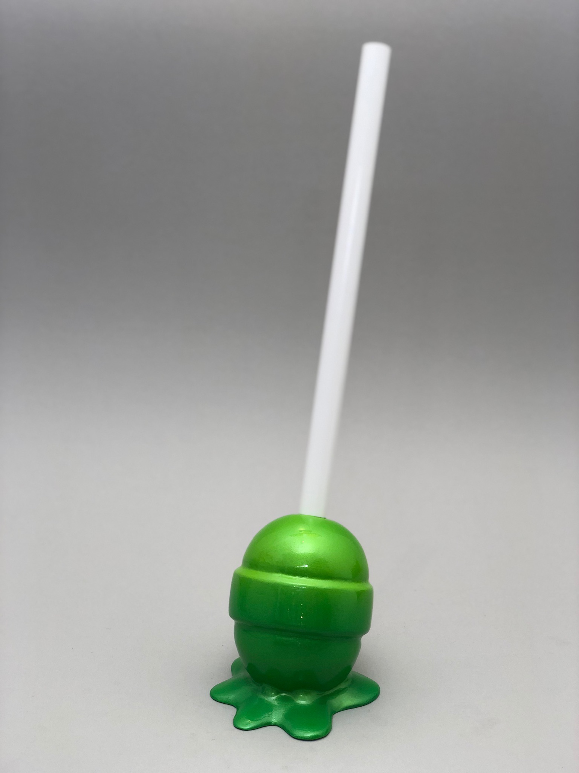 The Sweet Life, small, green Lollipop by Elena Bulatova