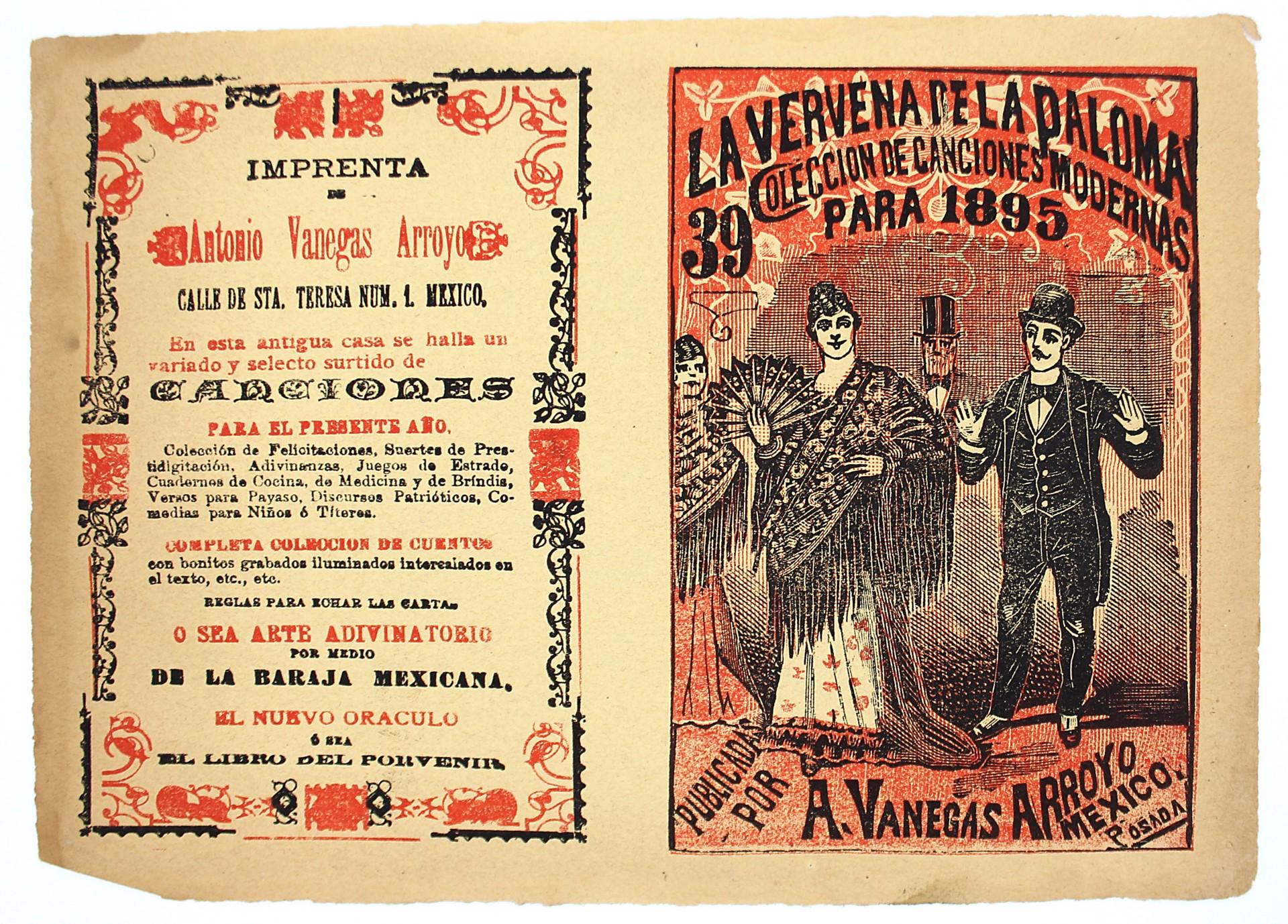 La Vervena de la Paloma. Colección de canciones modernas, No. 39 by José Guadalupe Posada (1852 - 1913)