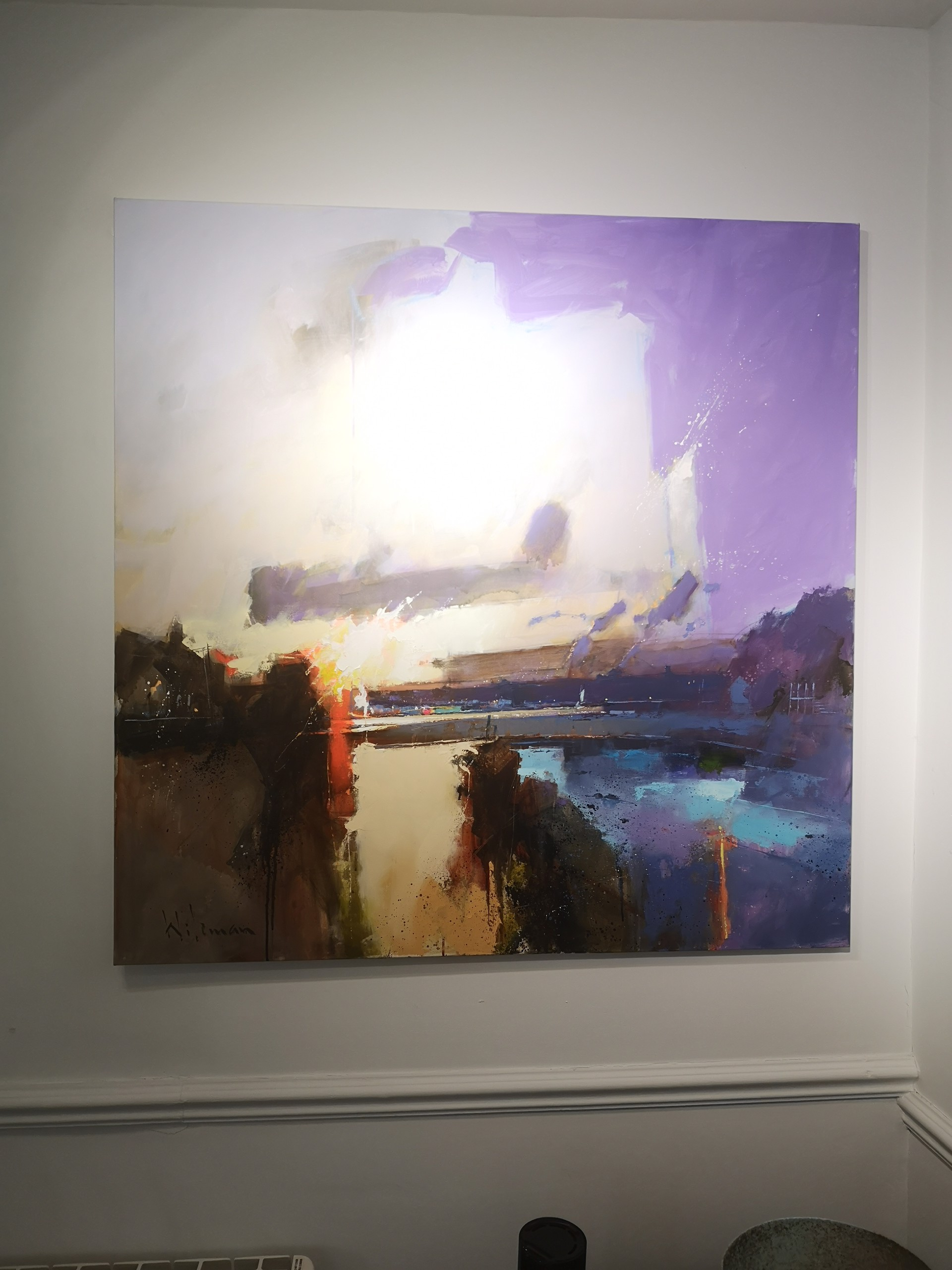 Lingering Light Over the Yealm by Peter Wileman