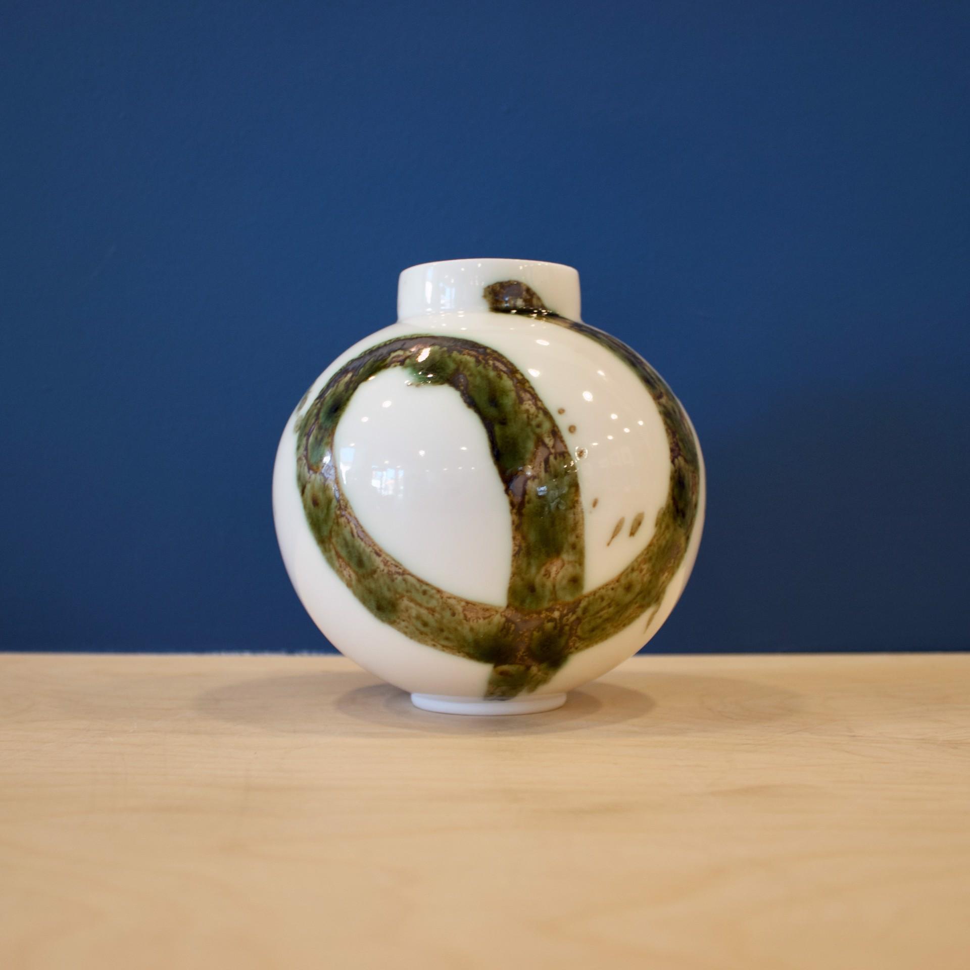 Splash Small Moon Jar by Patricia Thom