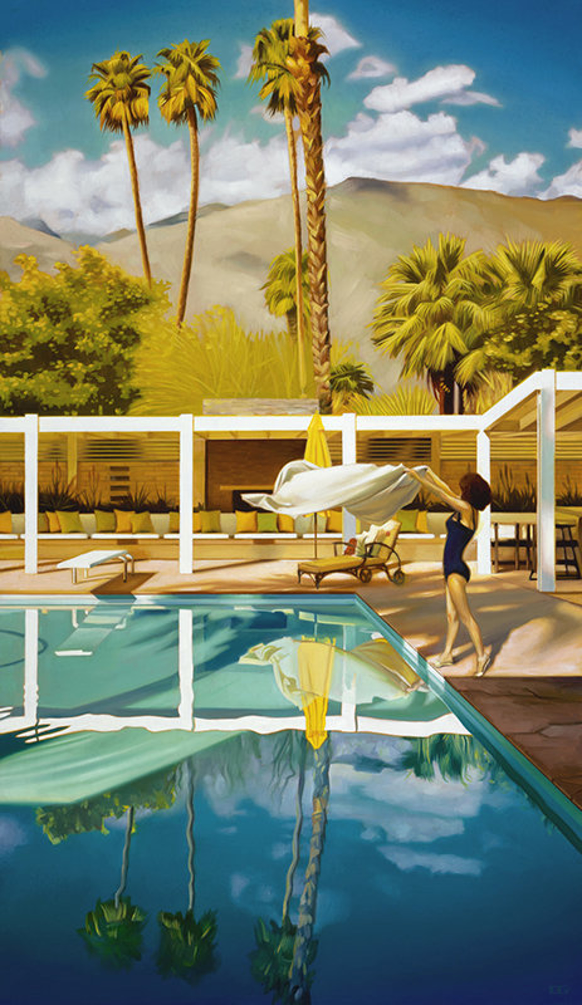 Chillin' in the Palm Shadows by Carrie Graber