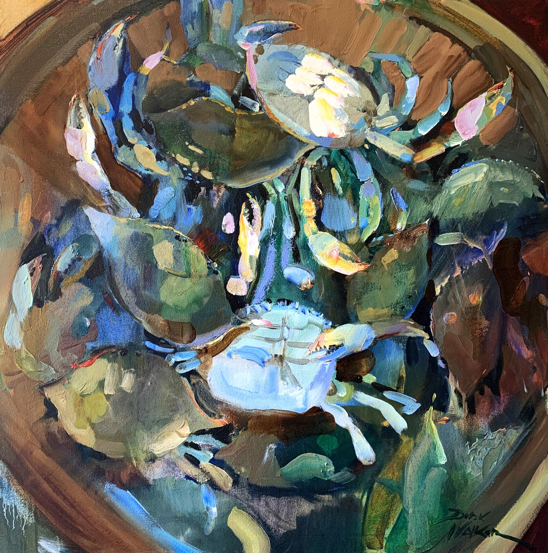 Fresh Blue Crabs by Dirk Walker