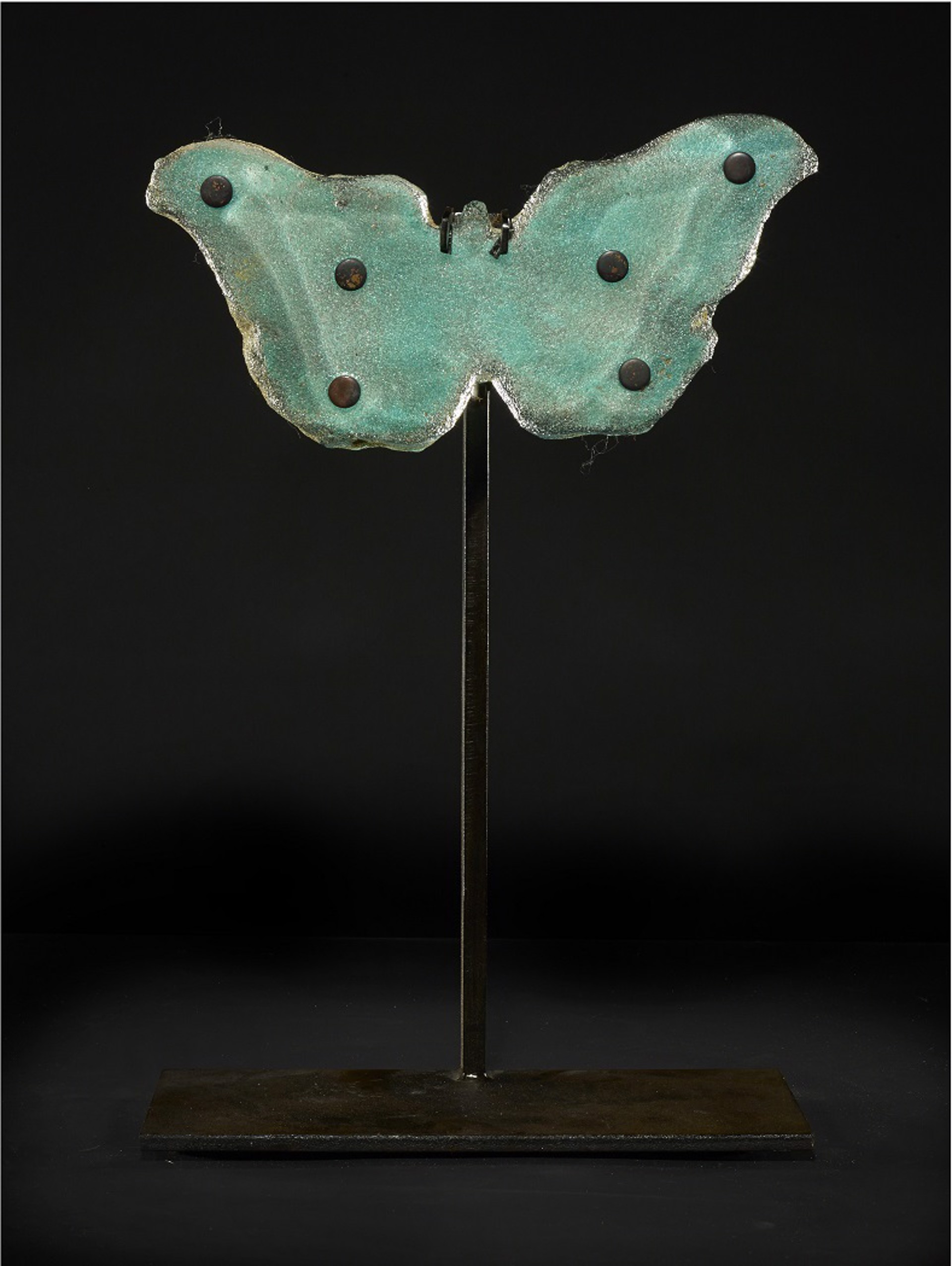 Copper Blue Butterfly with Dots by Marlene Rose (b. 1967)