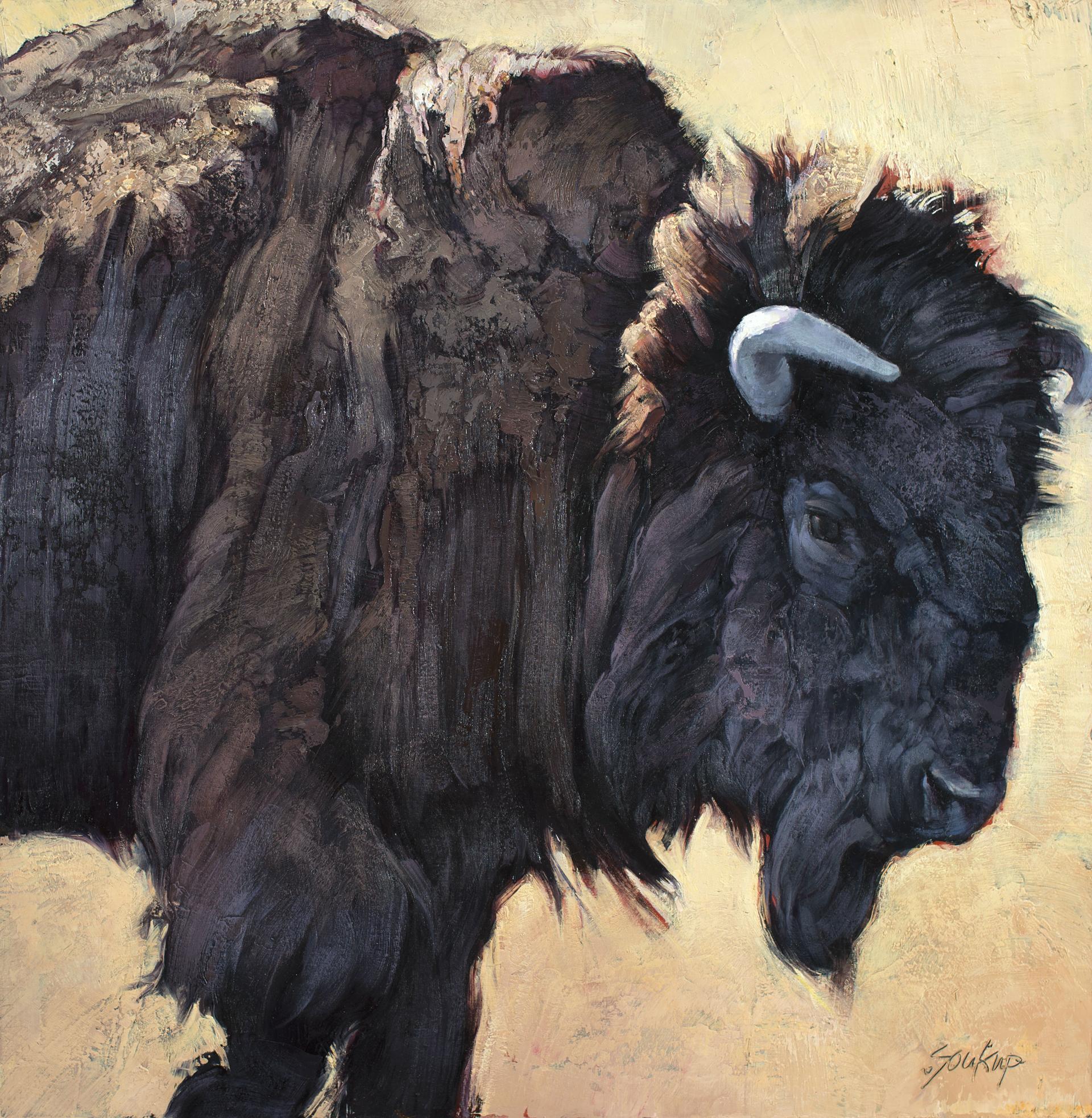 Bison Bull No. 5 by Jill Soukup