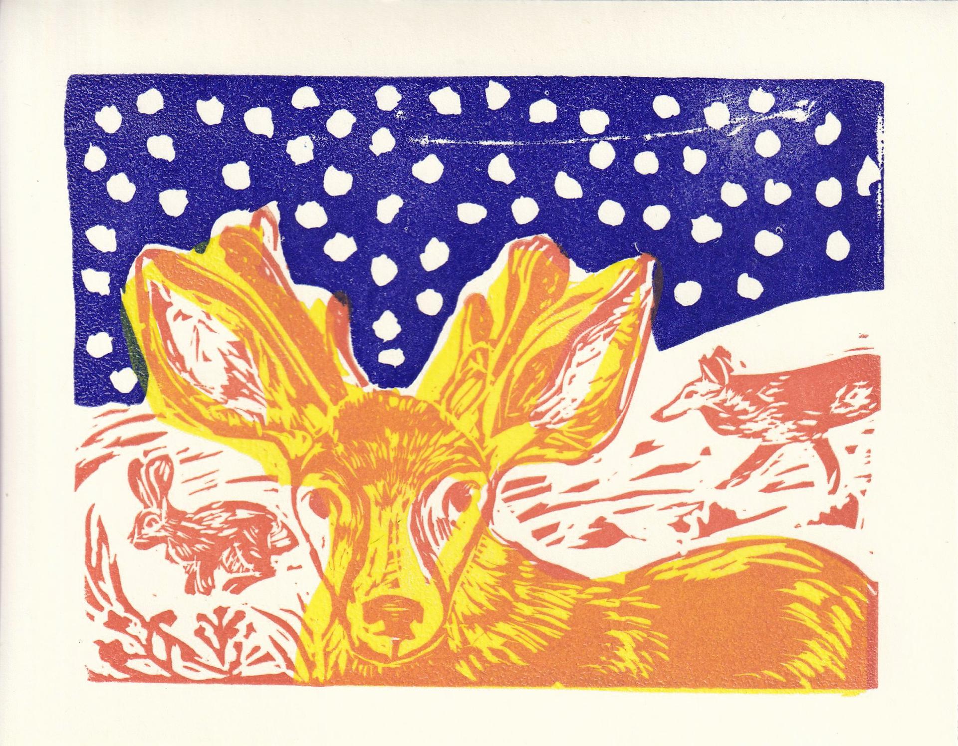 Deer Card by Kat Kinnick