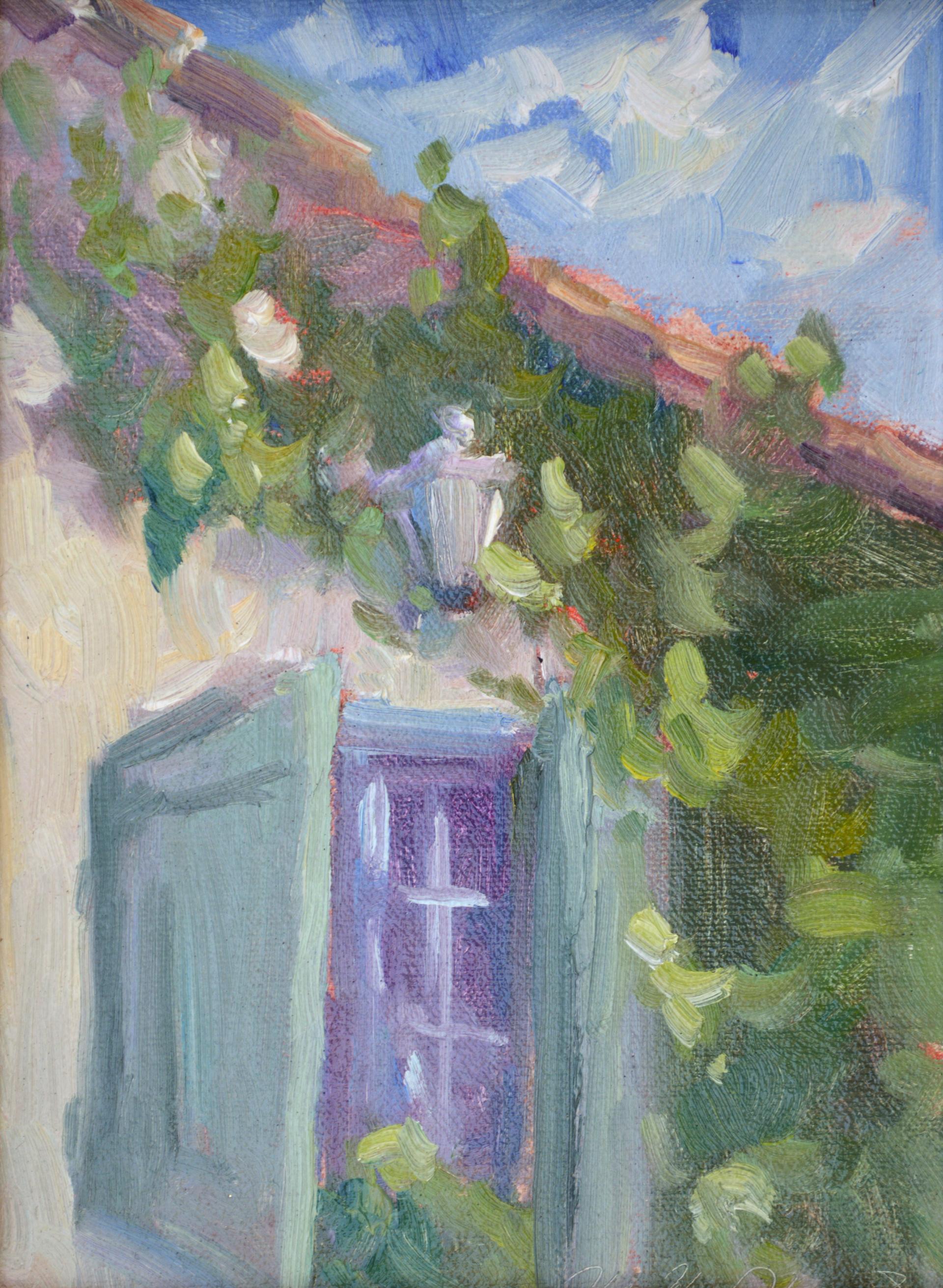 French Window at Domas Alba by Karen Hewitt Hagan