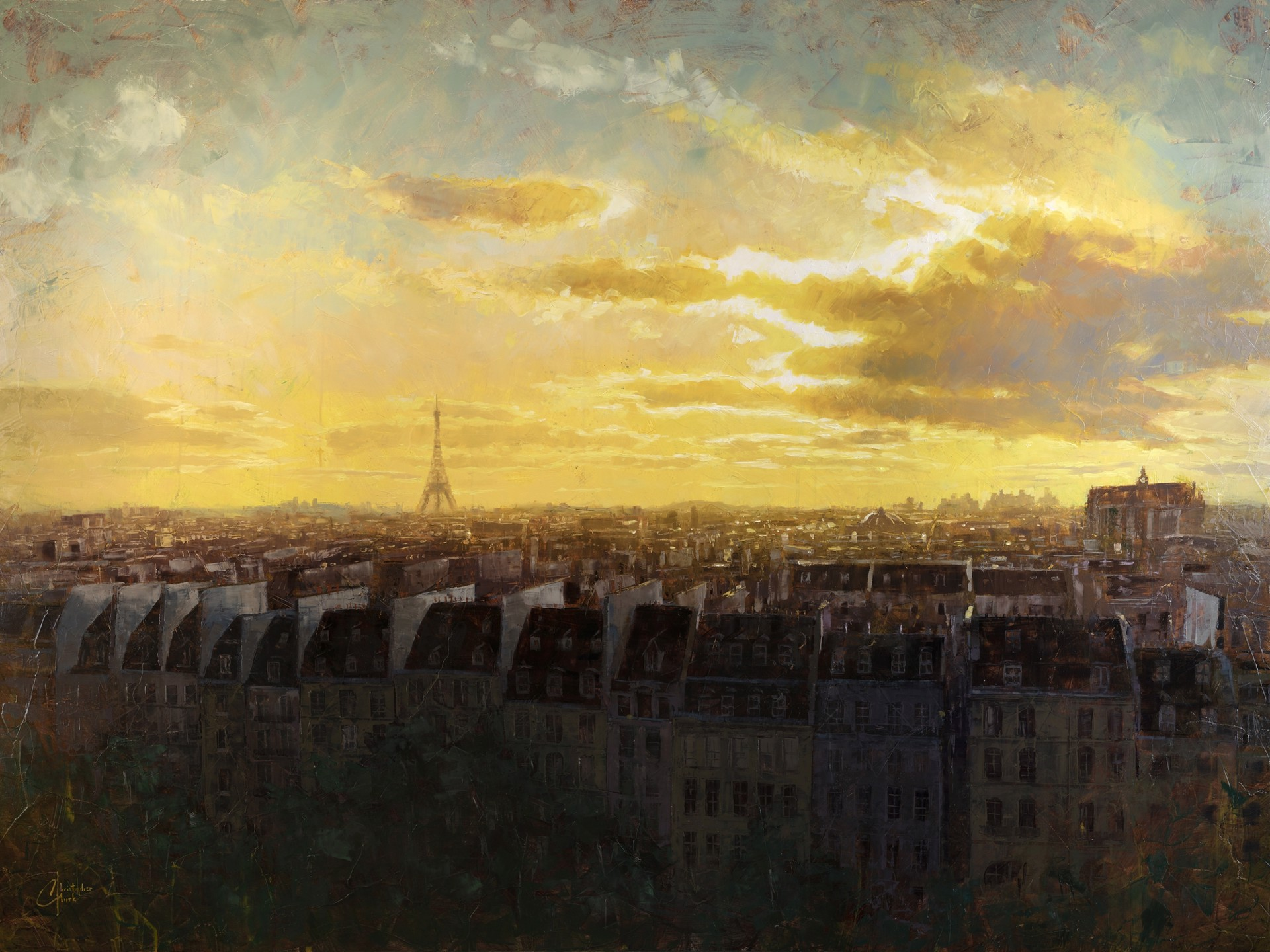 Paris Rooftops by Christopher Clark