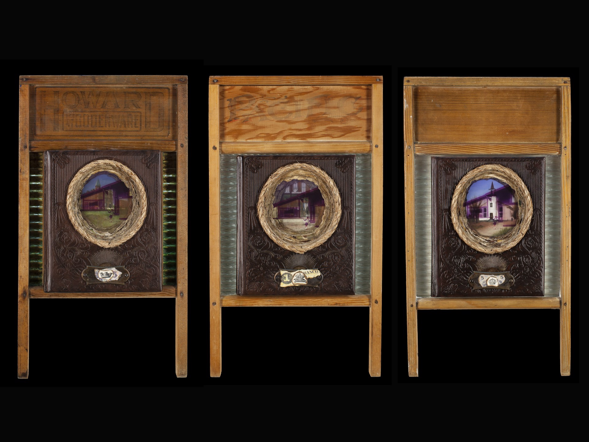 Bought & Paid For 3 (triptych) by Lisa Myers Bulmash
