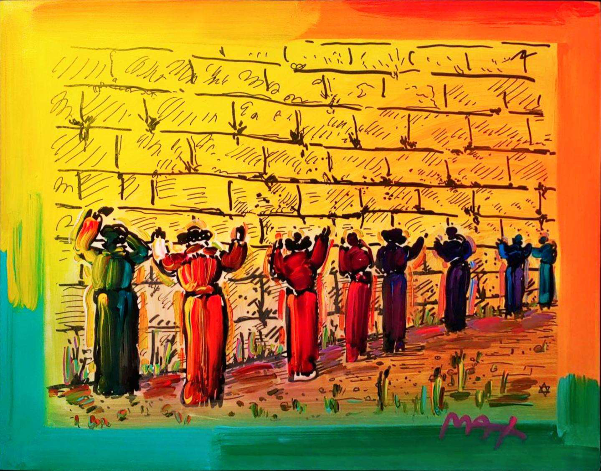 WESTERN WALL by Peter Max