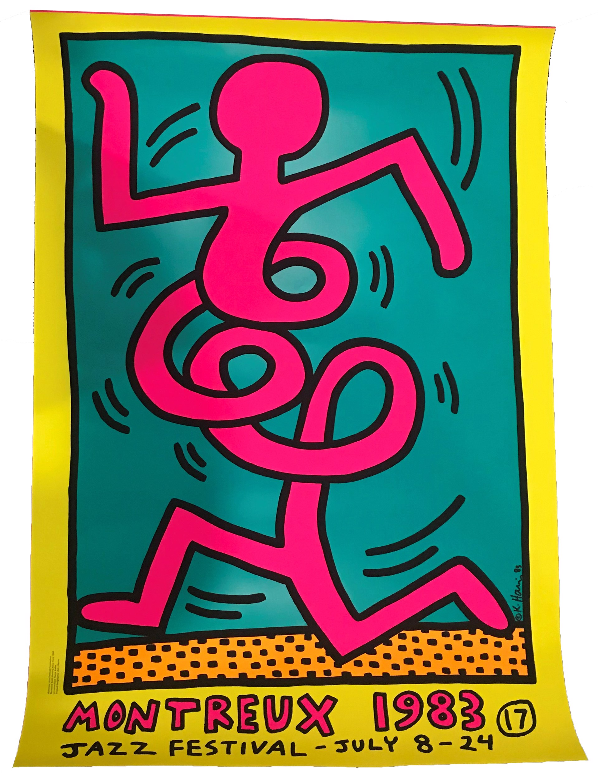 Montreux Festival De Jazz (Yellow Background) by Keith Haring (1958 - 1990)