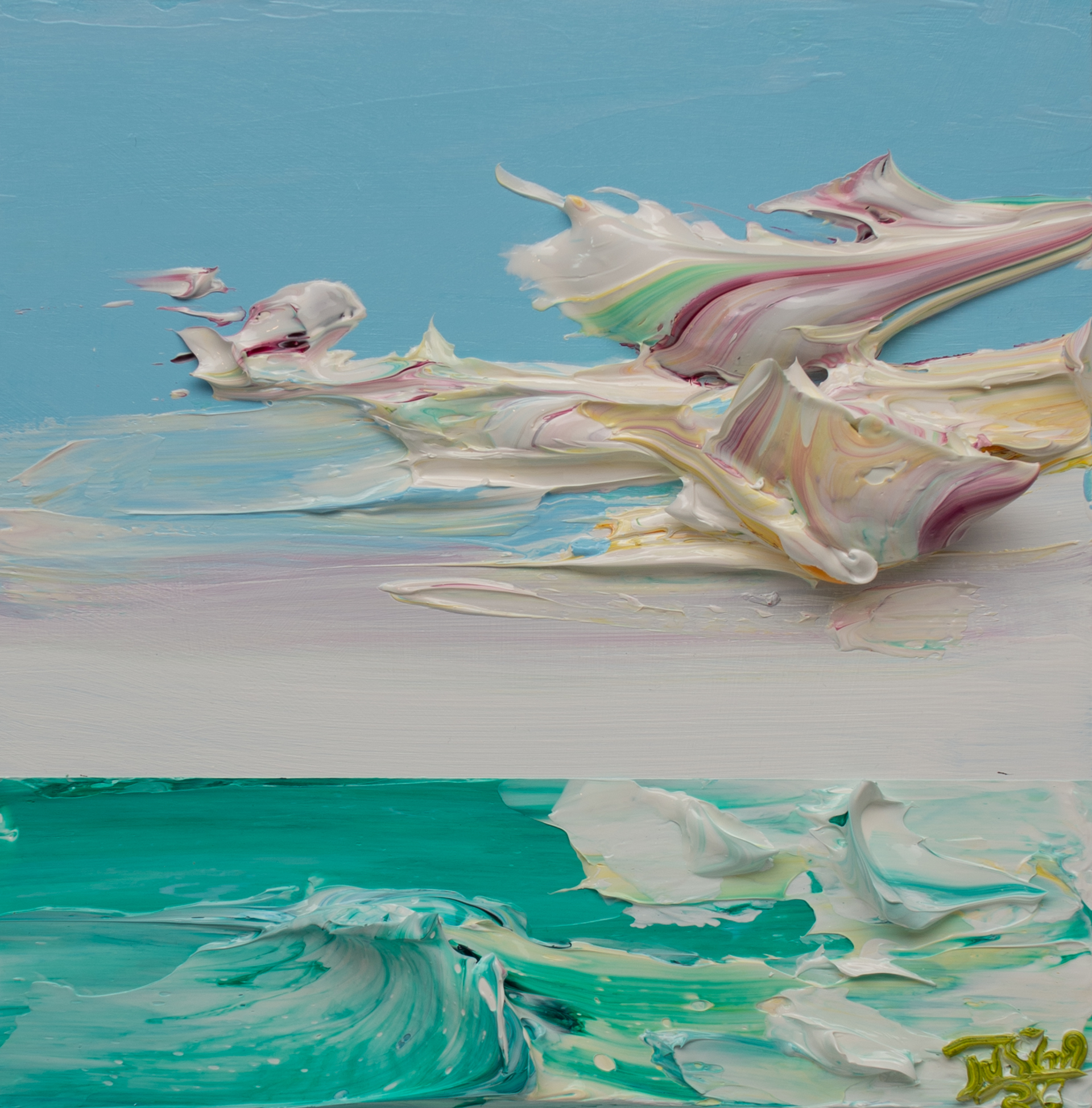 (SOLD)SEASCAPE SS-12x12-2020-056 by JUSTIN GAFFREY