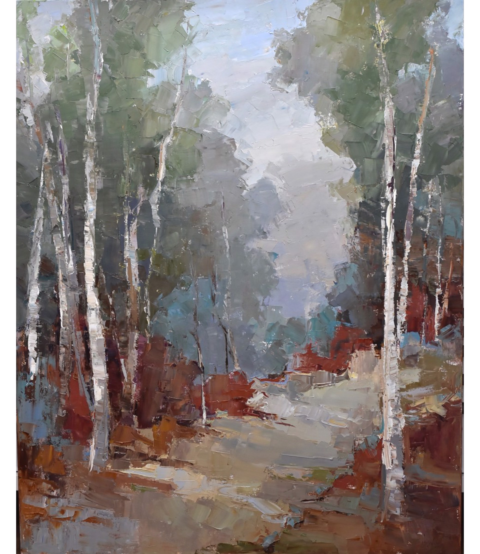 Birch by the Lake by Barbara Flowers