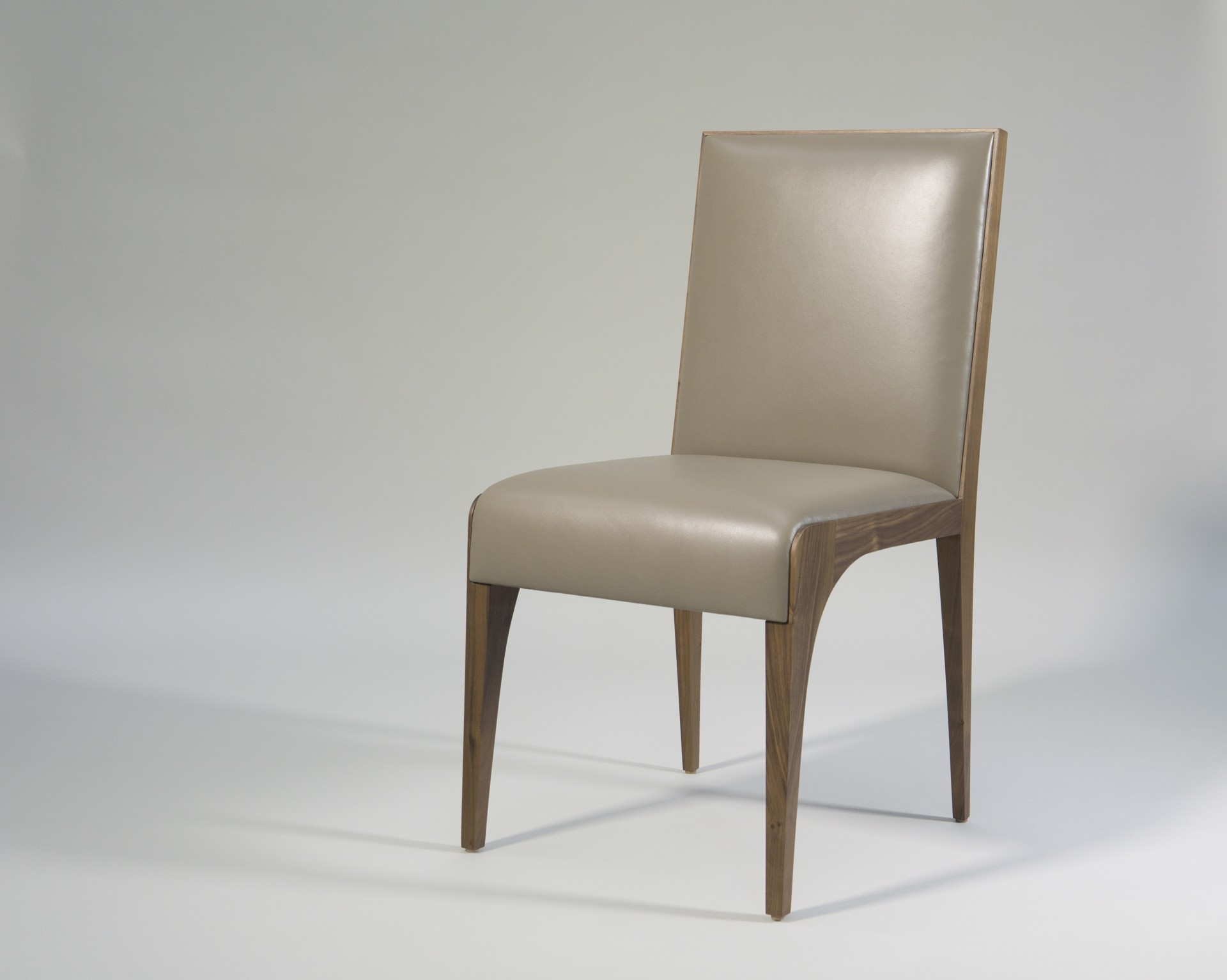 Walnut and Leather chair by Tinatin Kilaberidze