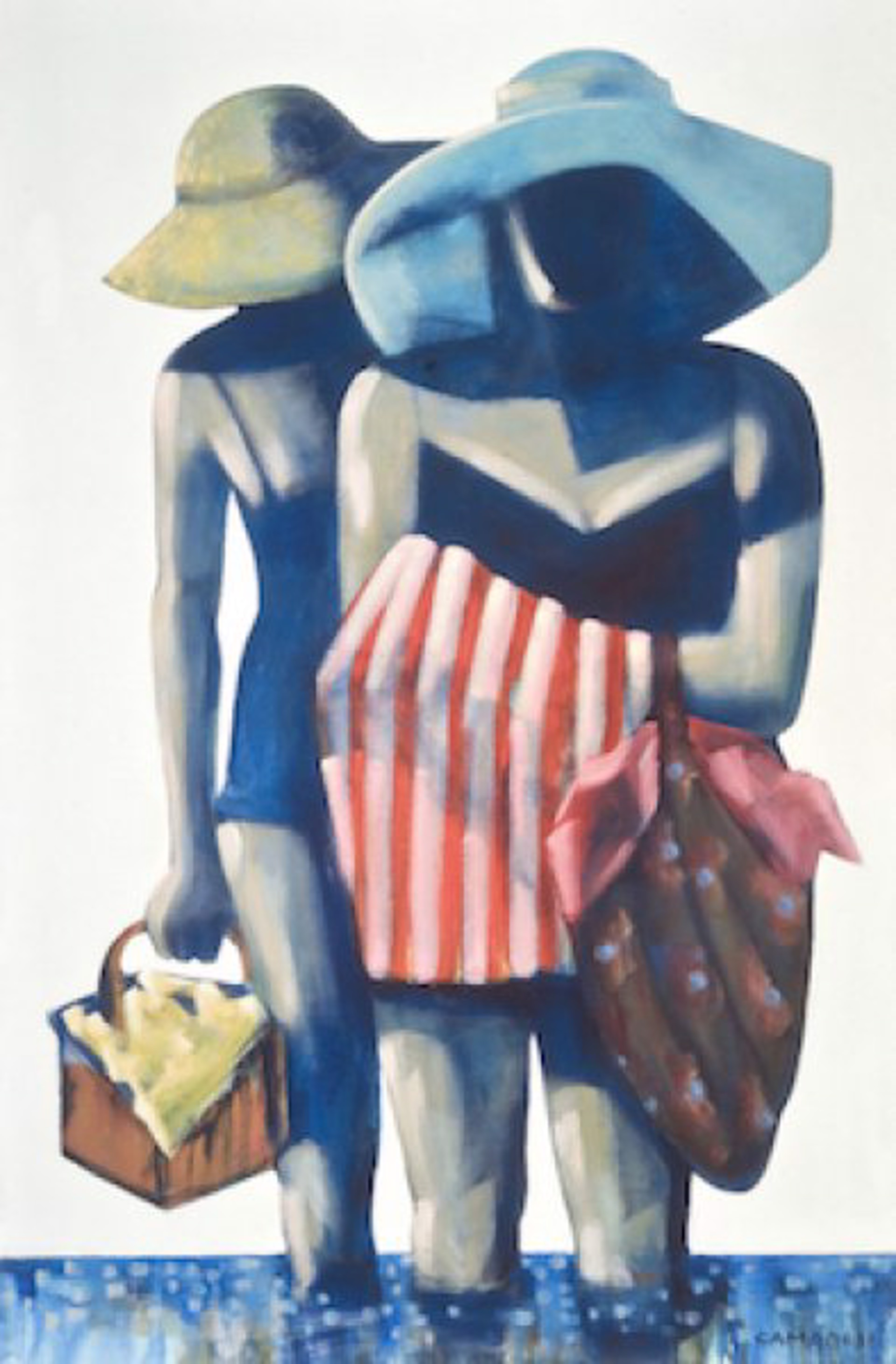 End Of Beach Day (Giclee On Paper) by Sandra J. Campbell