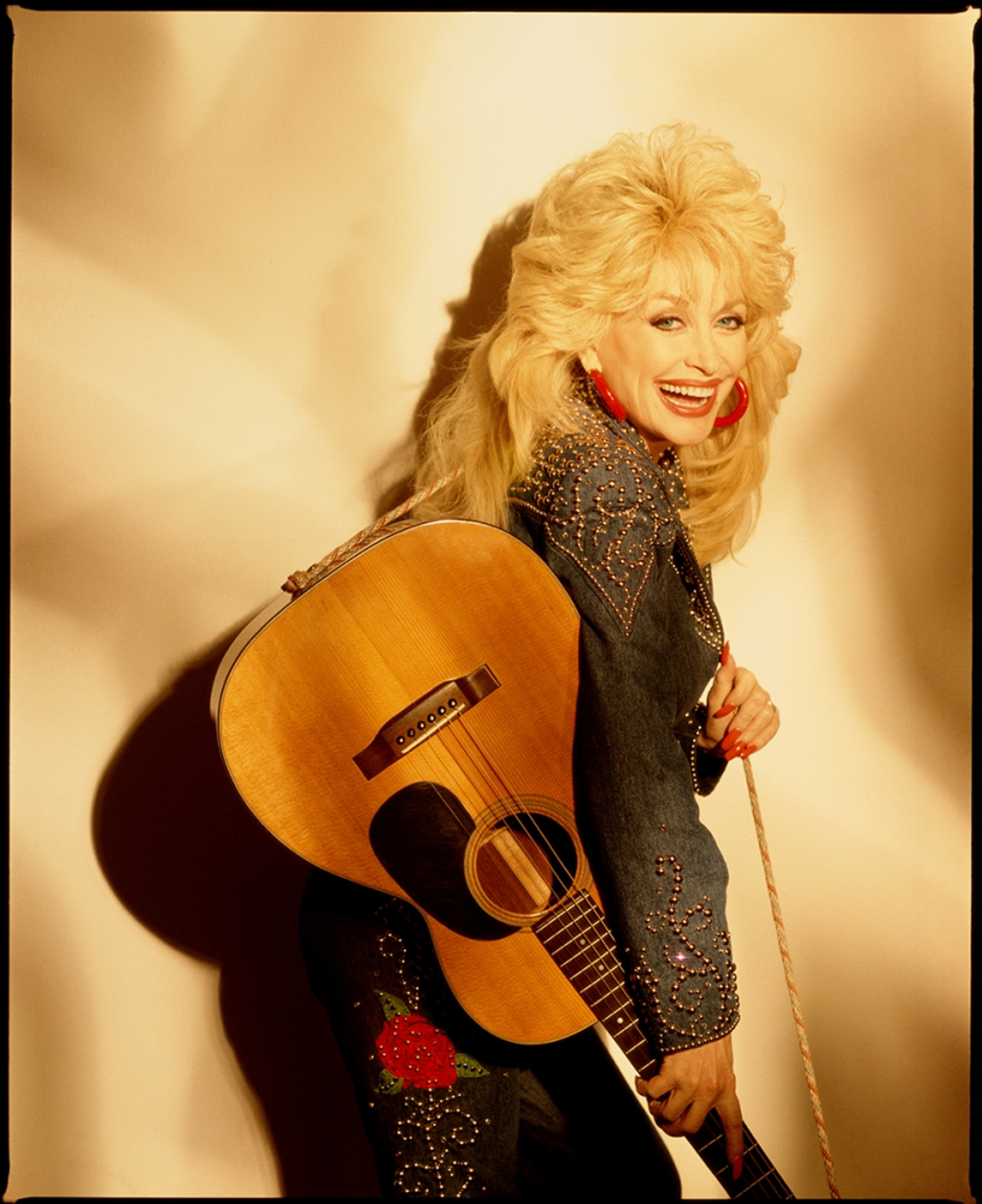 94052 Dolly Parton With Guitar Color by Timothy White