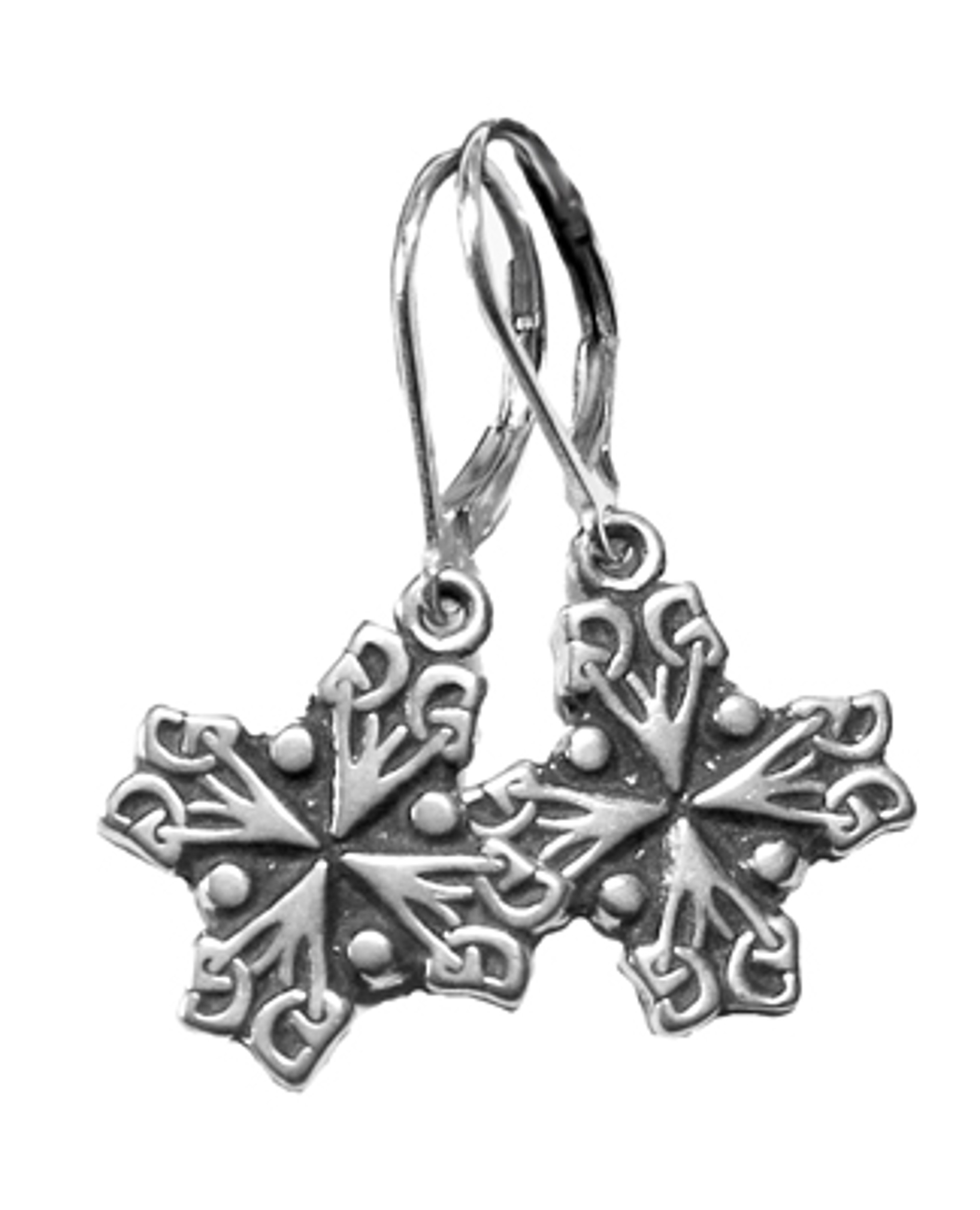 Earrings - St. Jeanne d'Arc Cross - 7343 by Deanne McKeown