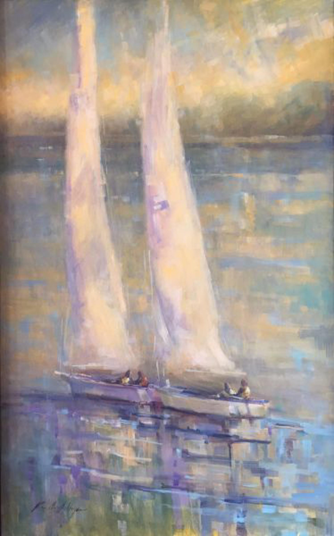Misty Day on the Water by Karen Hewitt Hagan