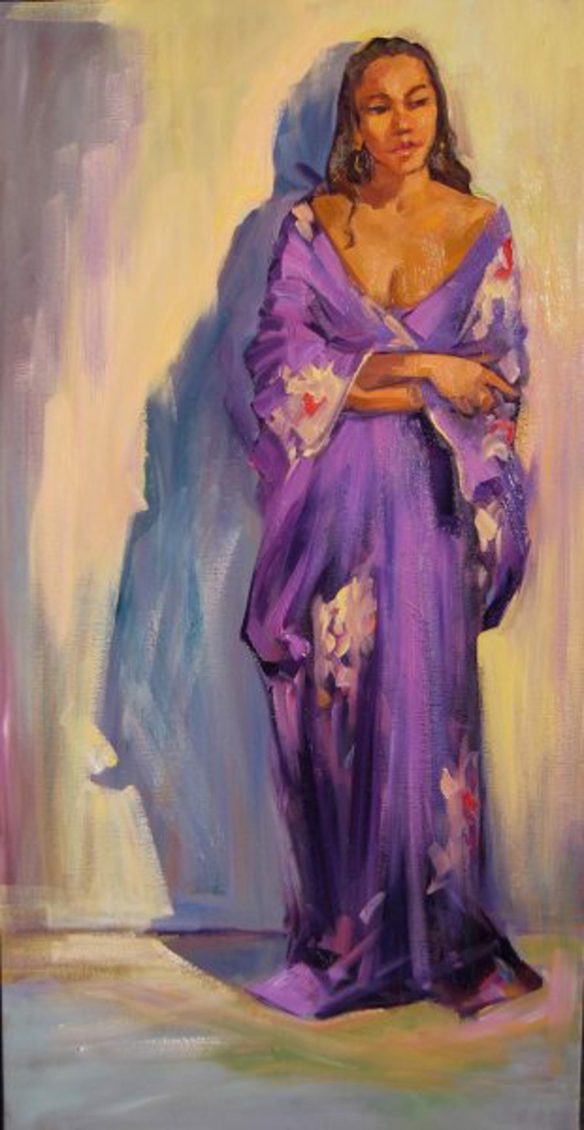 Bertran: Standing Silk Kimono by Maria Bertrán