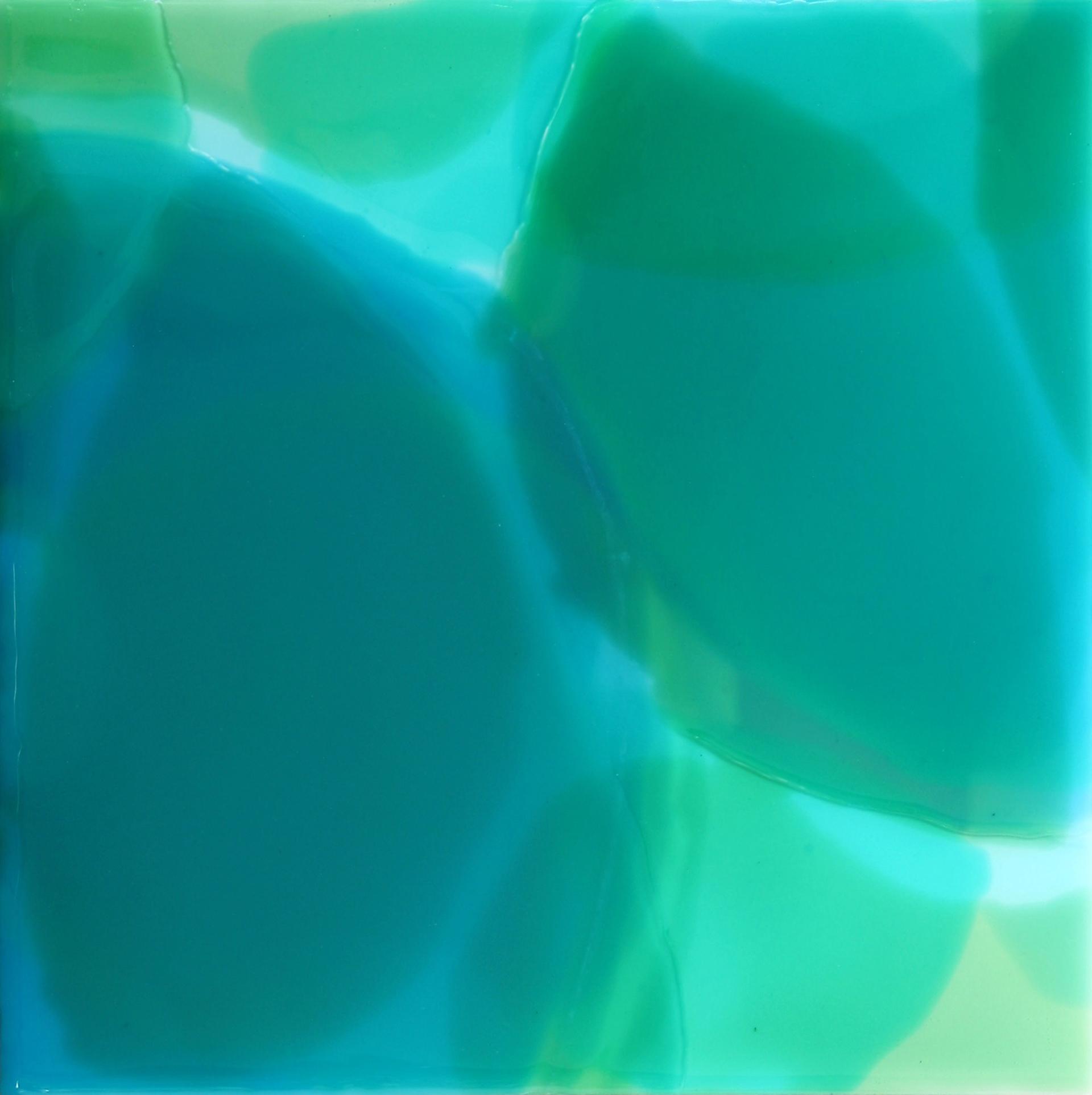 Blue-Green Square by Farida Hughes