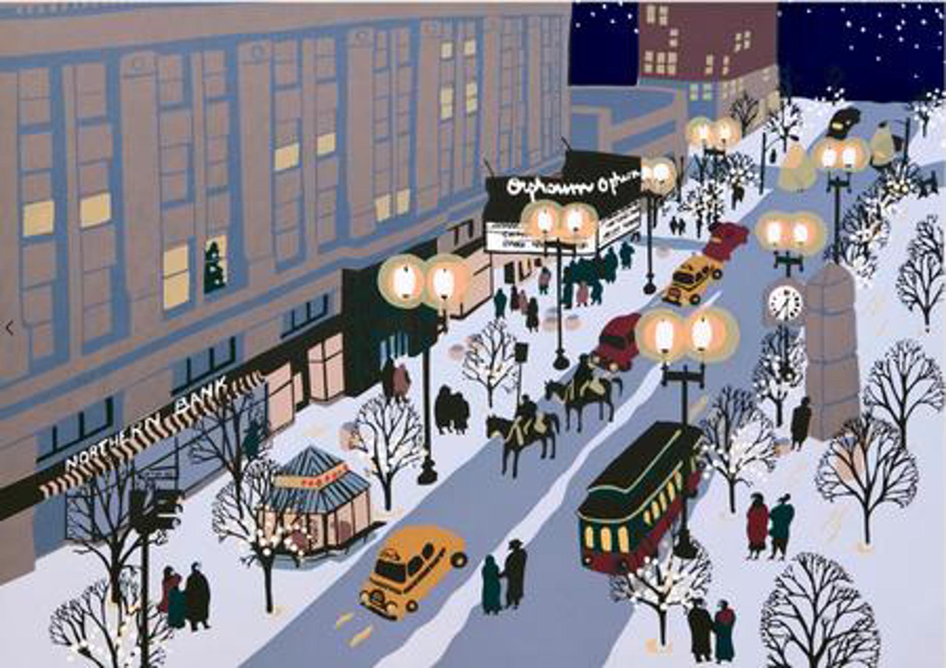 Winter Walk, Orpheum Theatre by Judith Welk