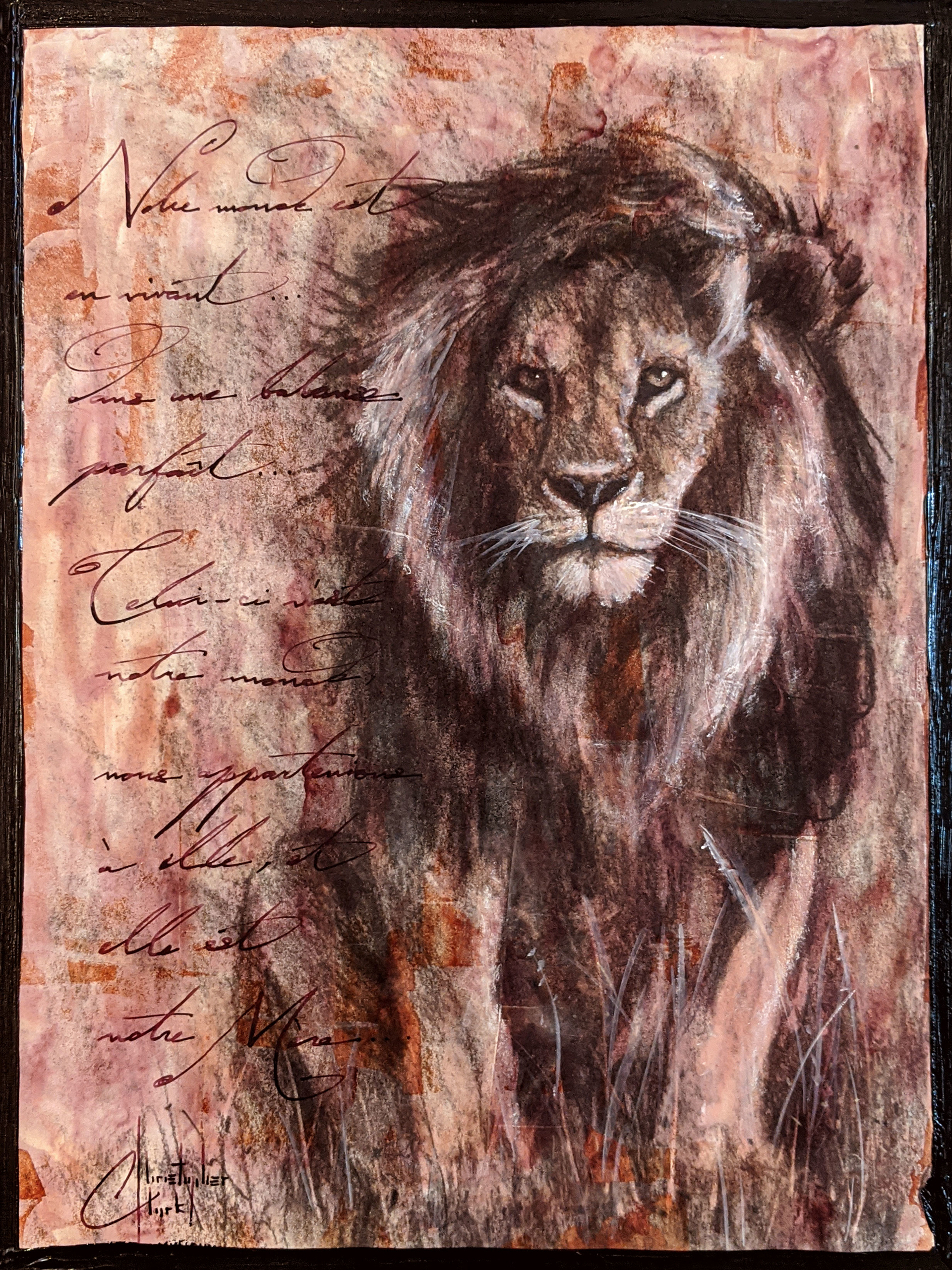 Sepia Cats, Lion 2 by Christopher Clark