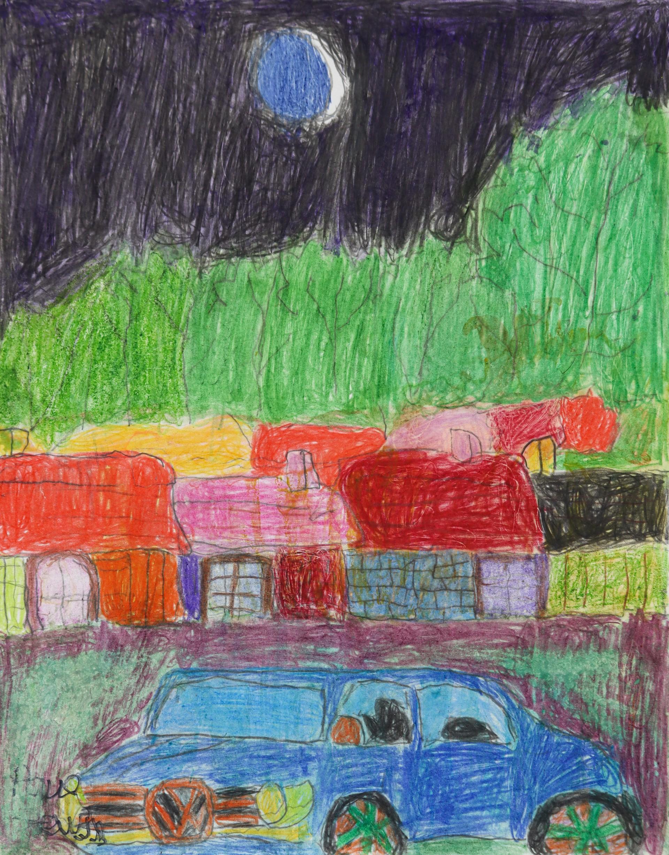 Paul Lewis' Favorite Car Volkswagon Jetta Under the Quarter Moon in the Rain by Paul Lewis