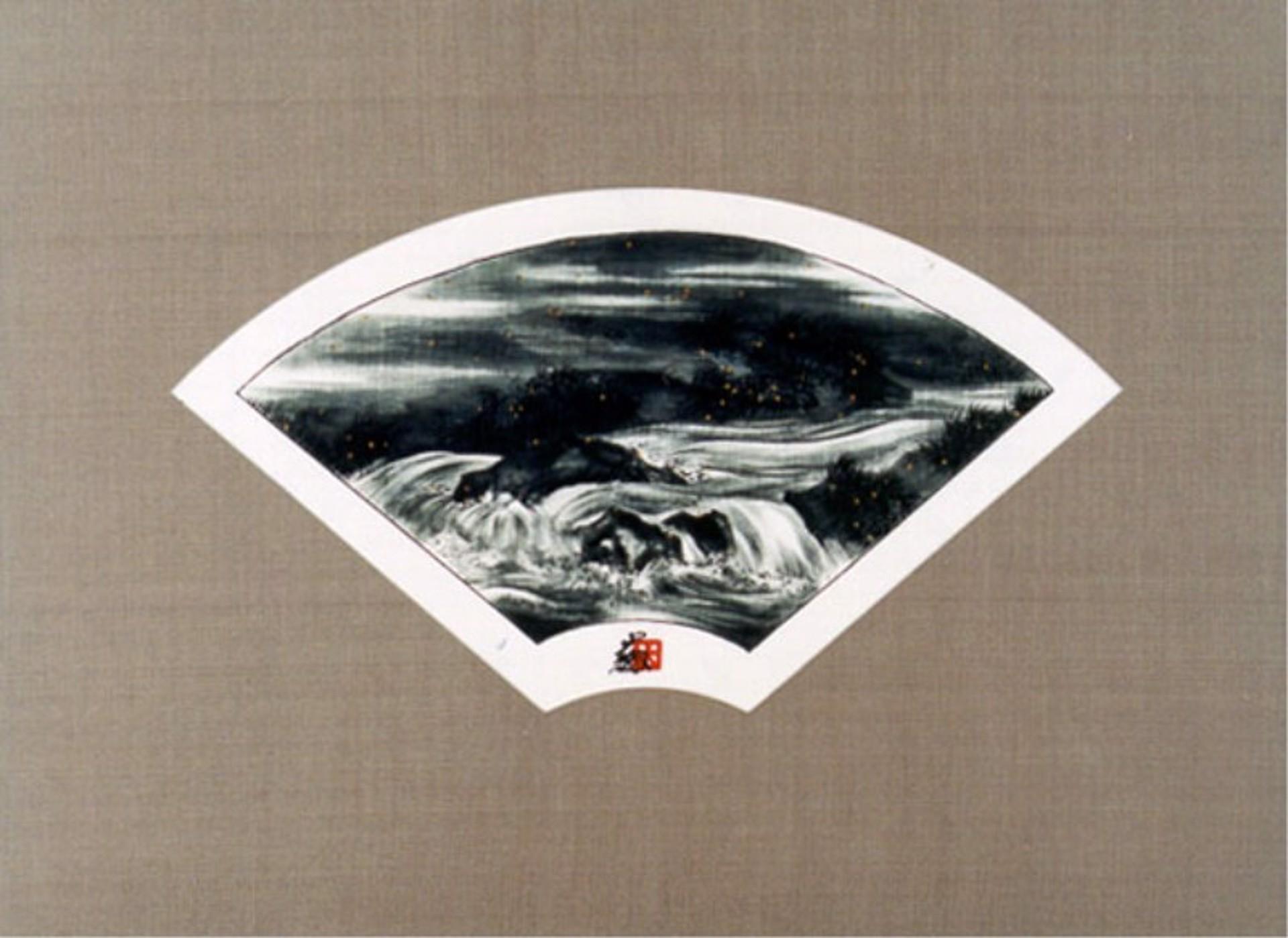 B/W Fan - Stream - Rapids by Hisashi Otsuka