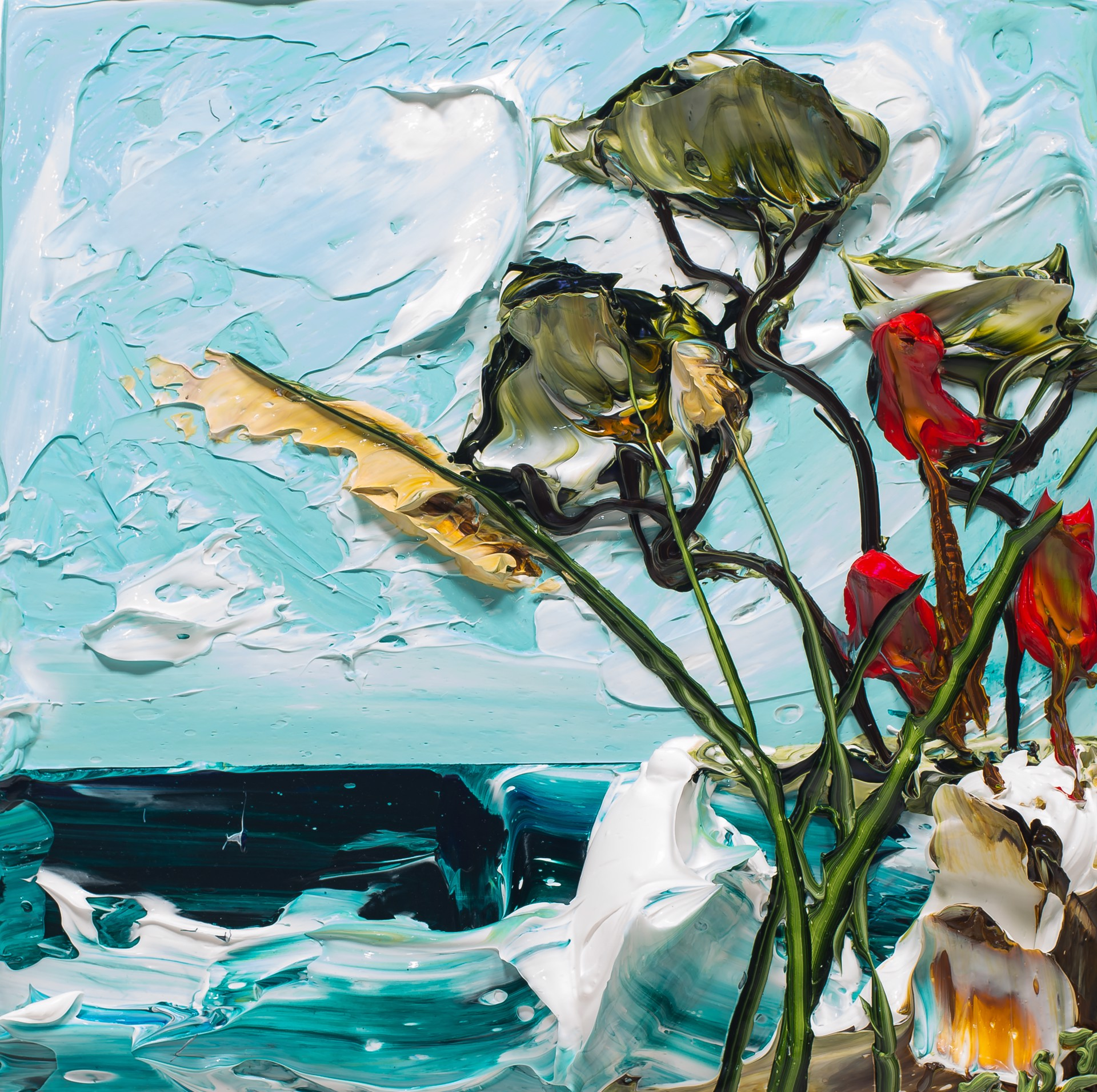 (SOLD)SEASCAPE SS12X12-2019-040 by JUSTIN GAFFREY