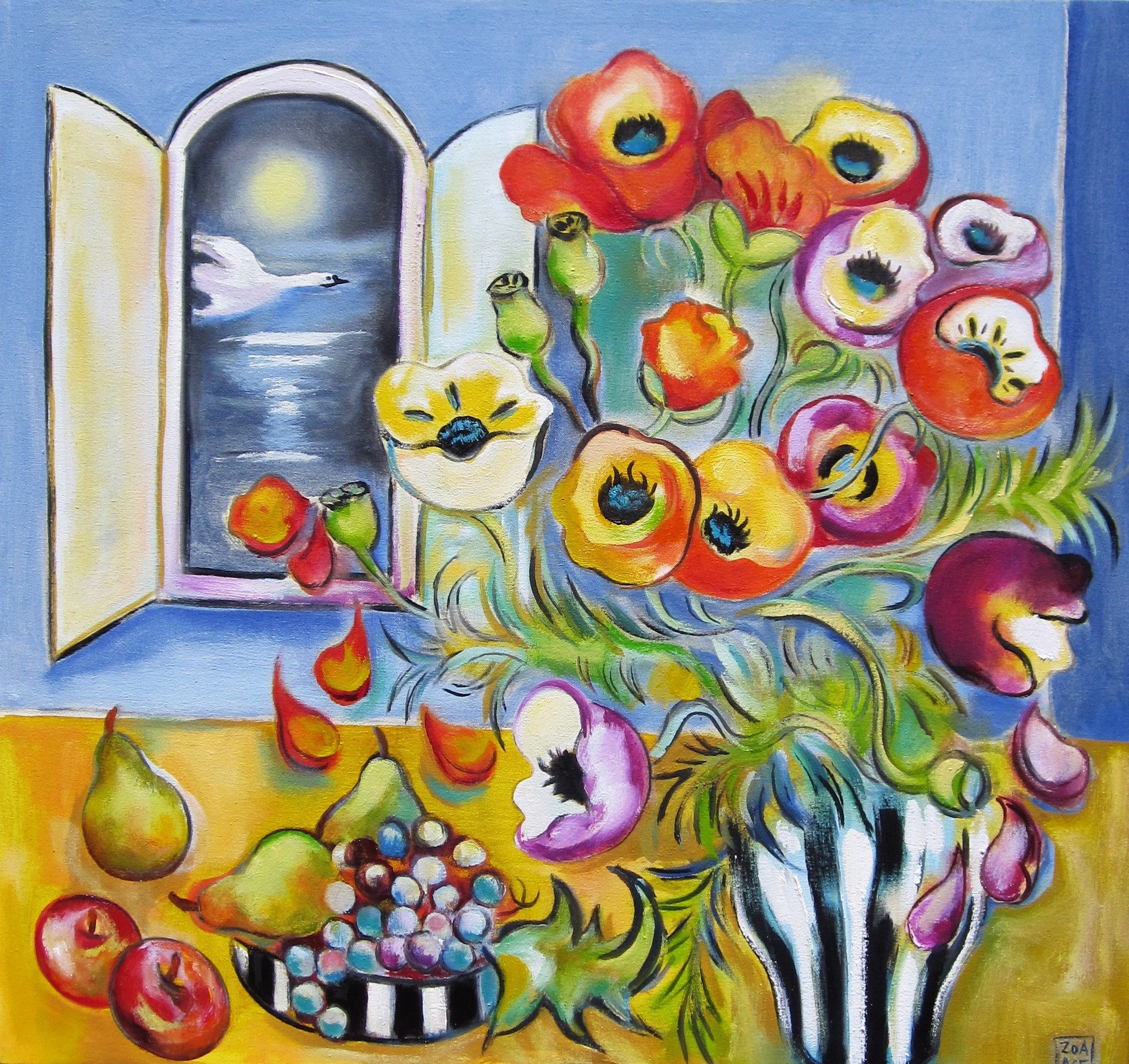 Still Life with Swan by Zoa Ace