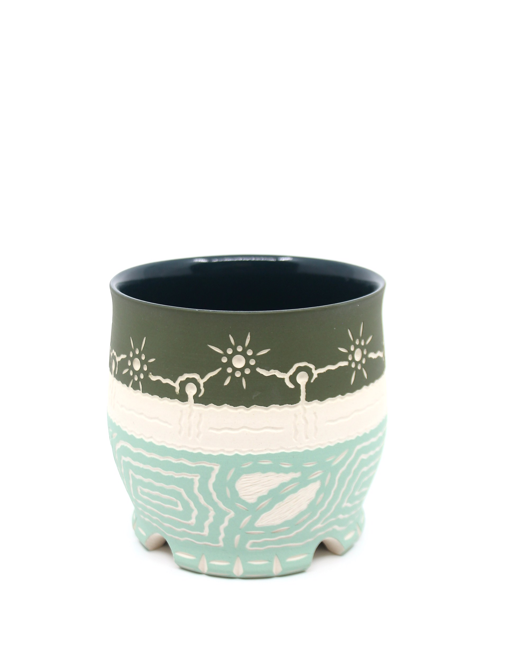 Two-Tone Green Cup by Chris Casey