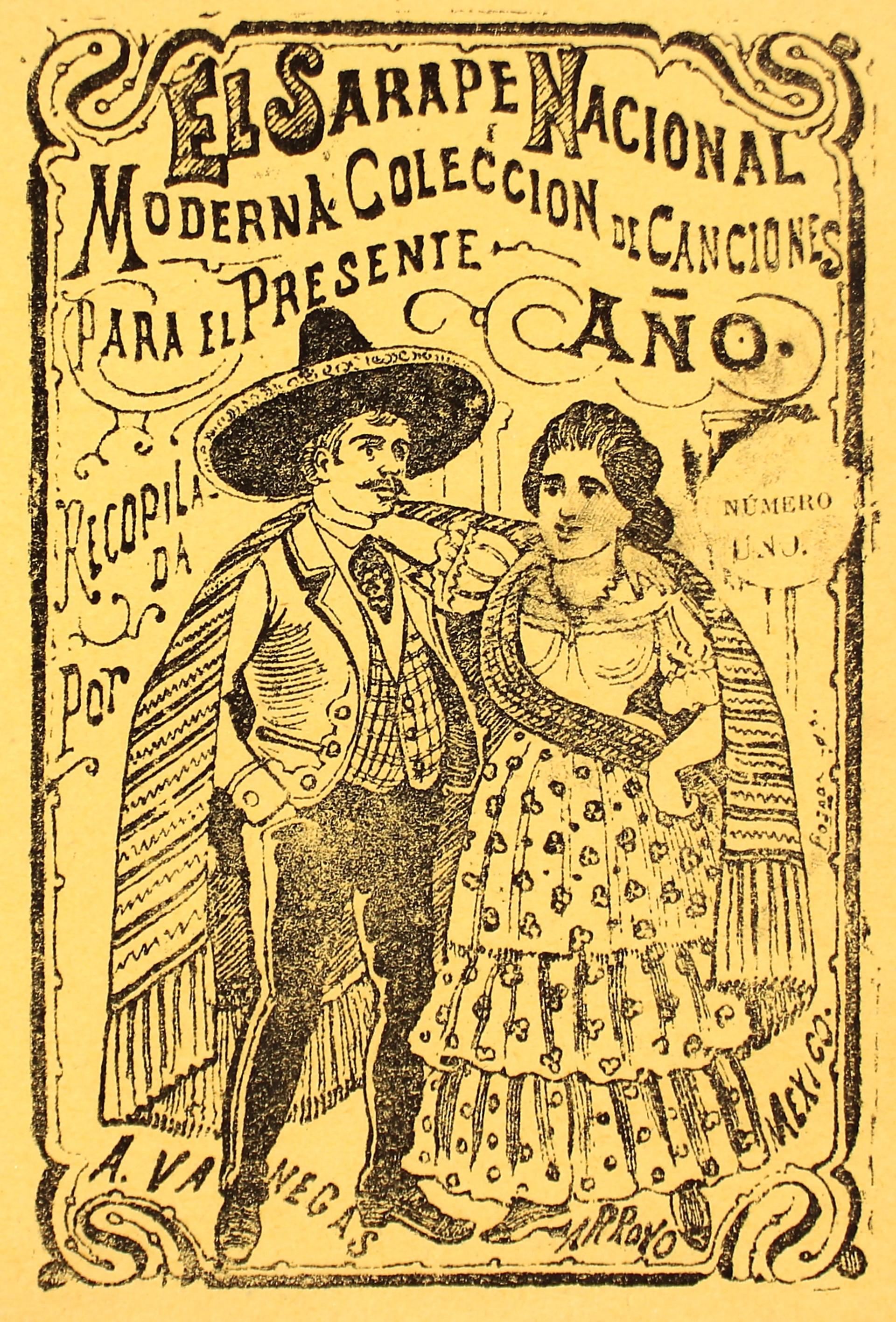 El Sarape Nacional. Moderna coleccion de canciones para el presente ano, No. 1 by José Guadalupe Posada (1852 - 1913)