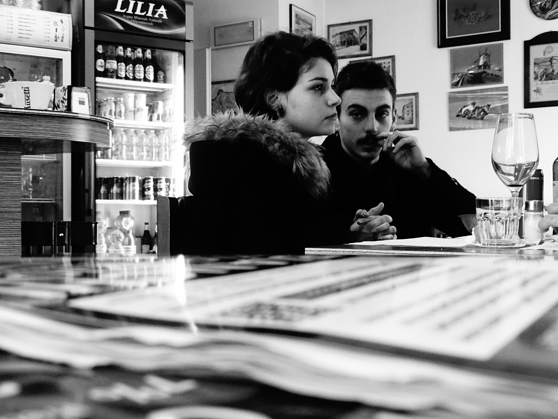 Young Couple in Cafe, Lucca by Stacy Widelitz