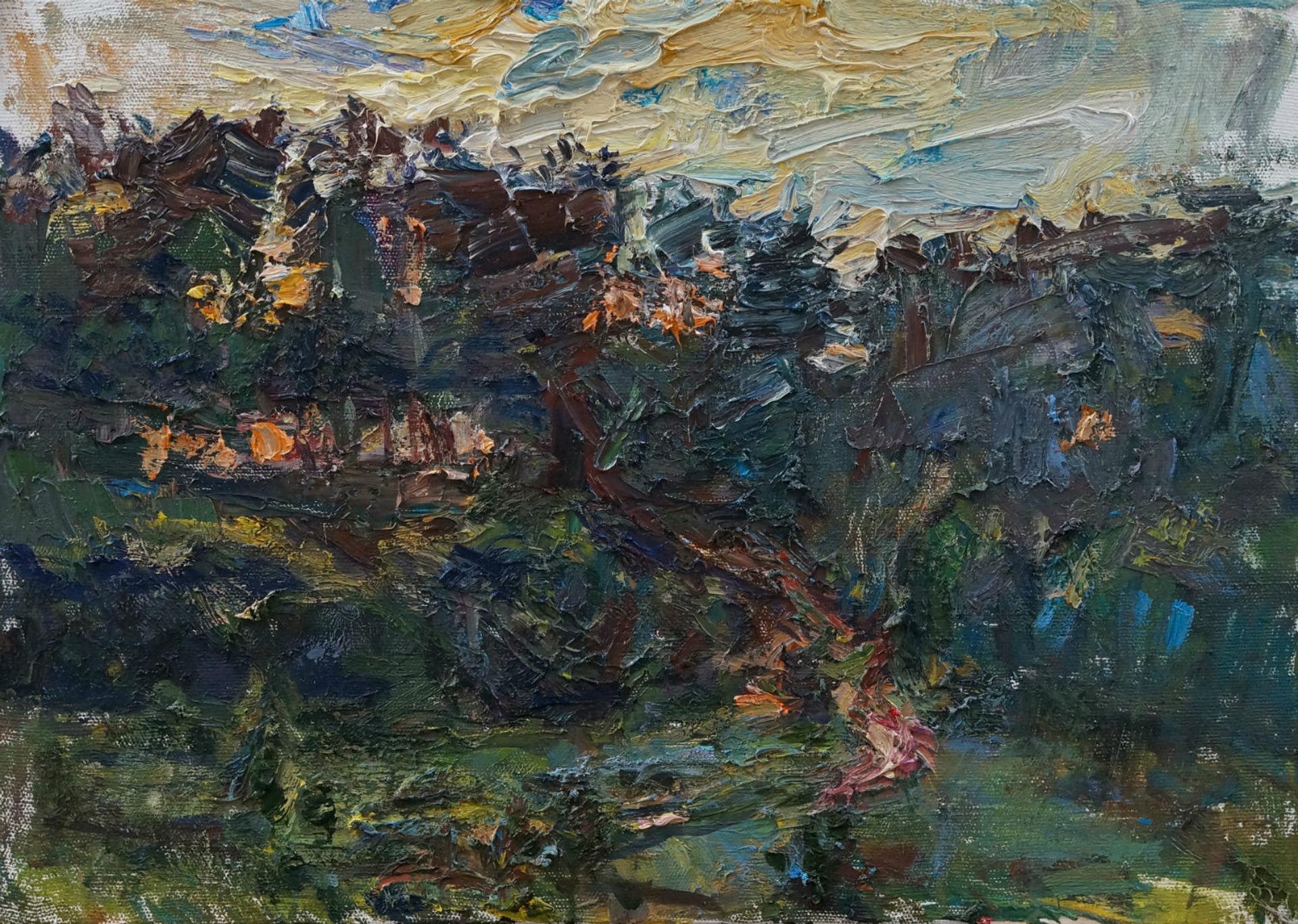 Orange Sunset by Ulrich Gleiter