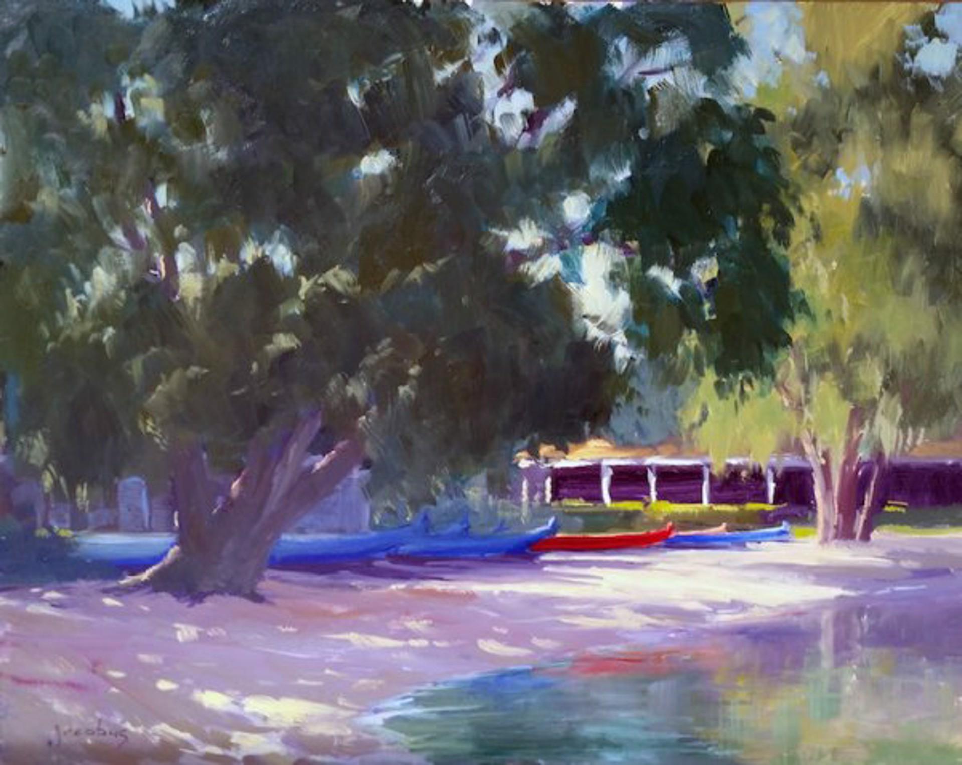 Lanikai Outrigger Canoes by Jacobus Baas