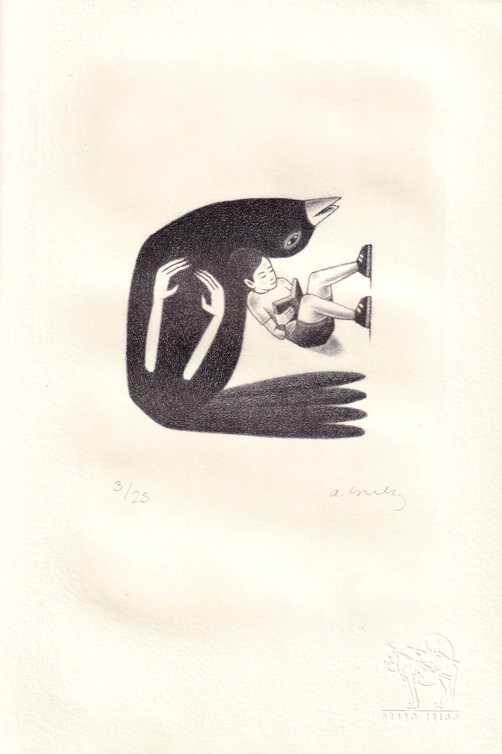 Untitled (Pajaro Leyendo) by Alberto Cruz