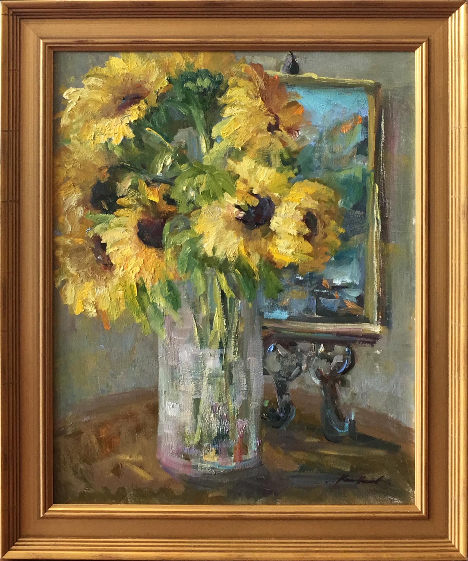 Sunflowers in the Grand Salon by Karen Hewitt Hagan