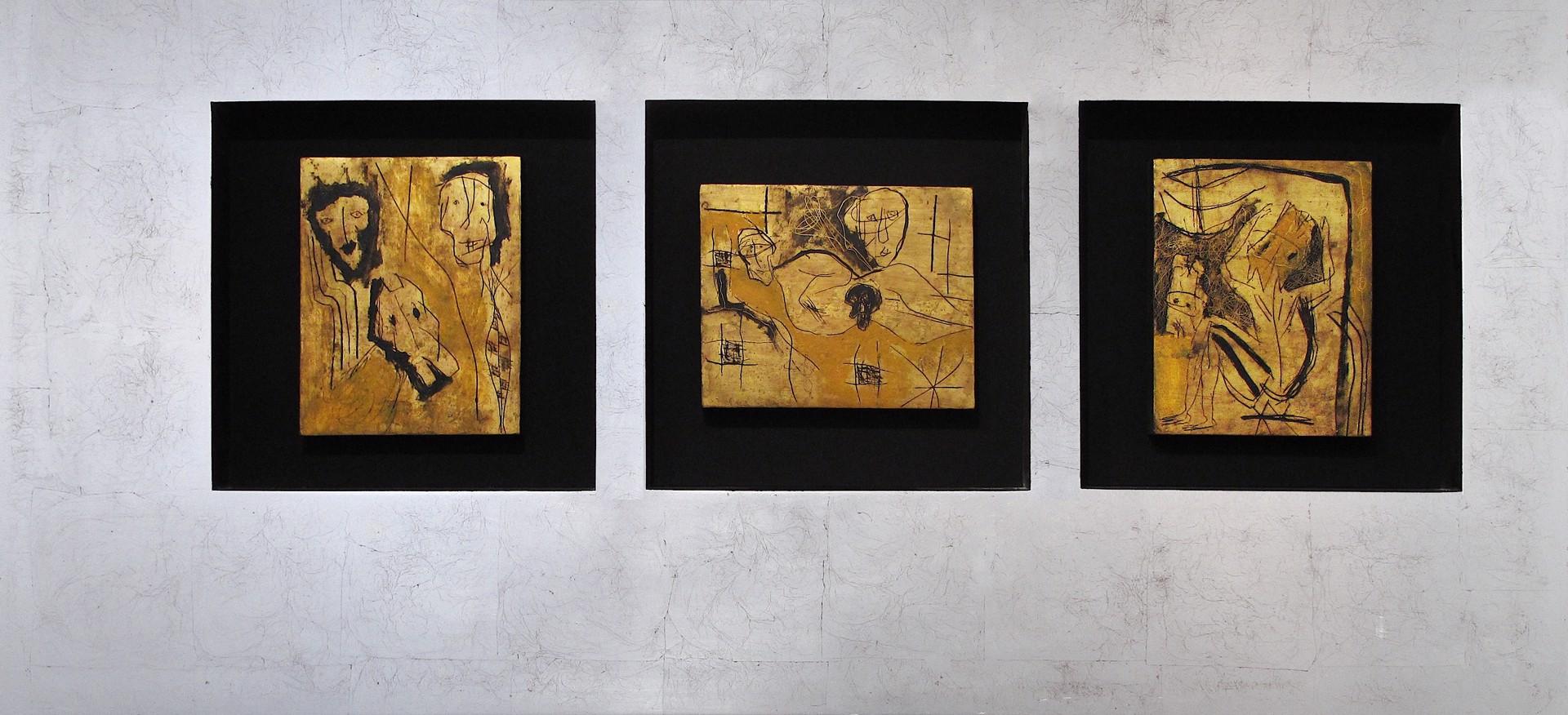 Untitled Triptych by Alejandro Santiago