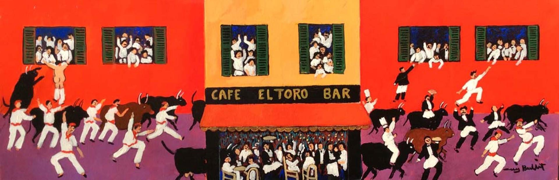 Pamplona - Cafe El Toro by Guy Buffet