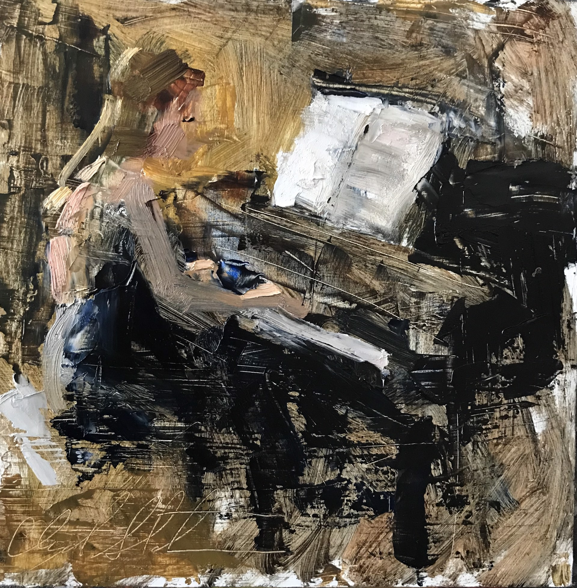 Piano Means Quiet by Clyde Steadman