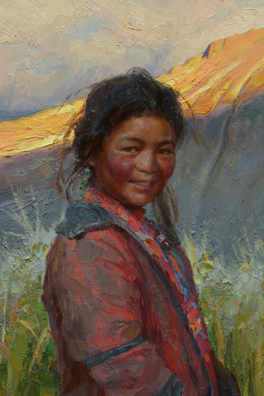 Tibetan Sisters by Scott Burdick