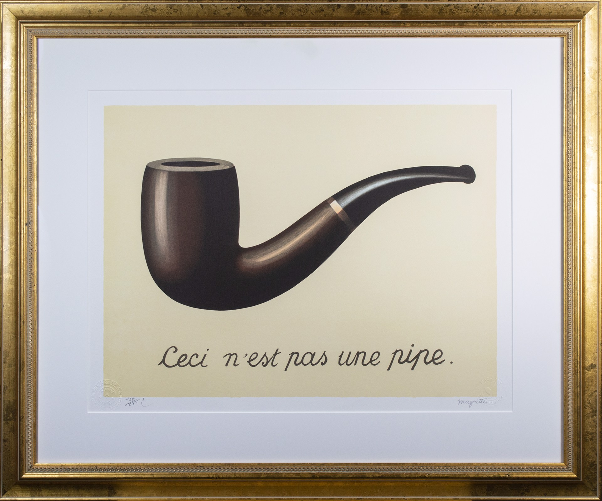 La Trahison des images (The Treachery of Images) by Rene Magritte