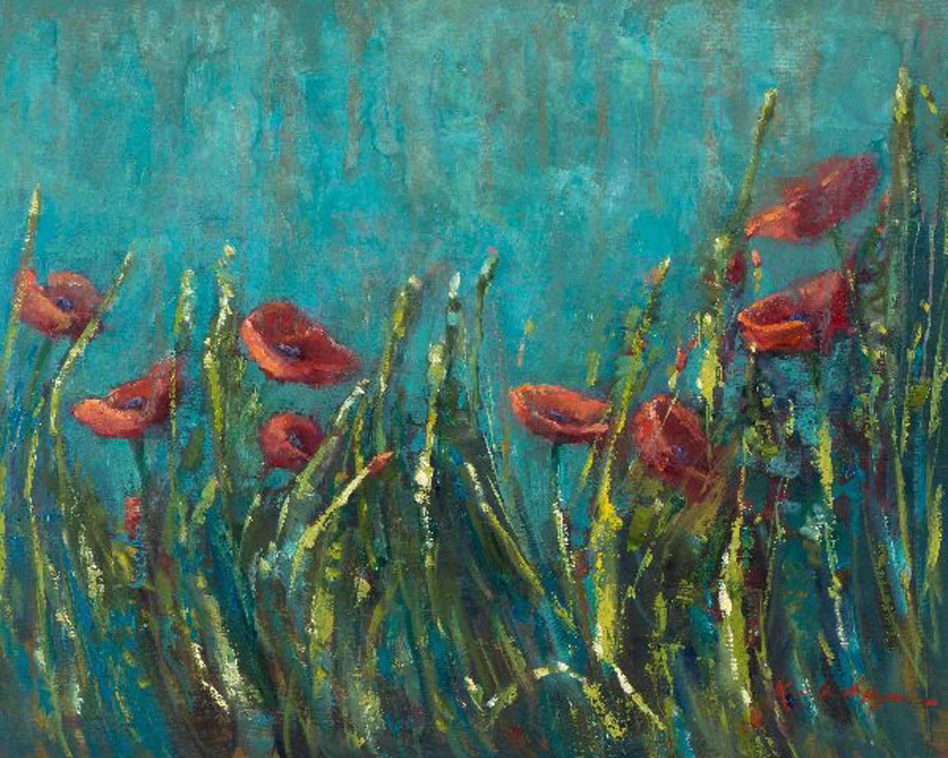 Italian Poppy Field by Karen Hewitt Hagan