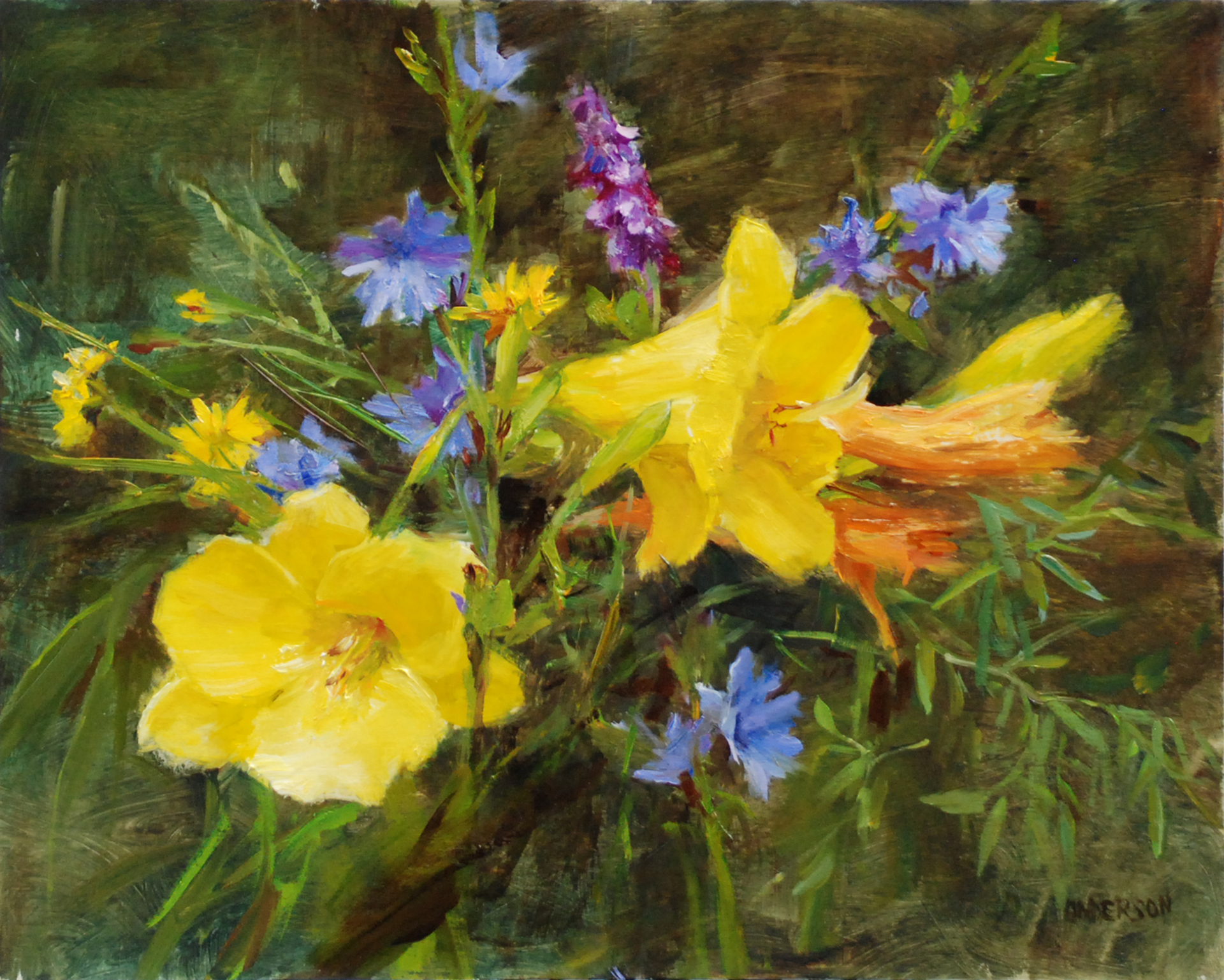 Wildflowers with Lilies by Kathy Anderson