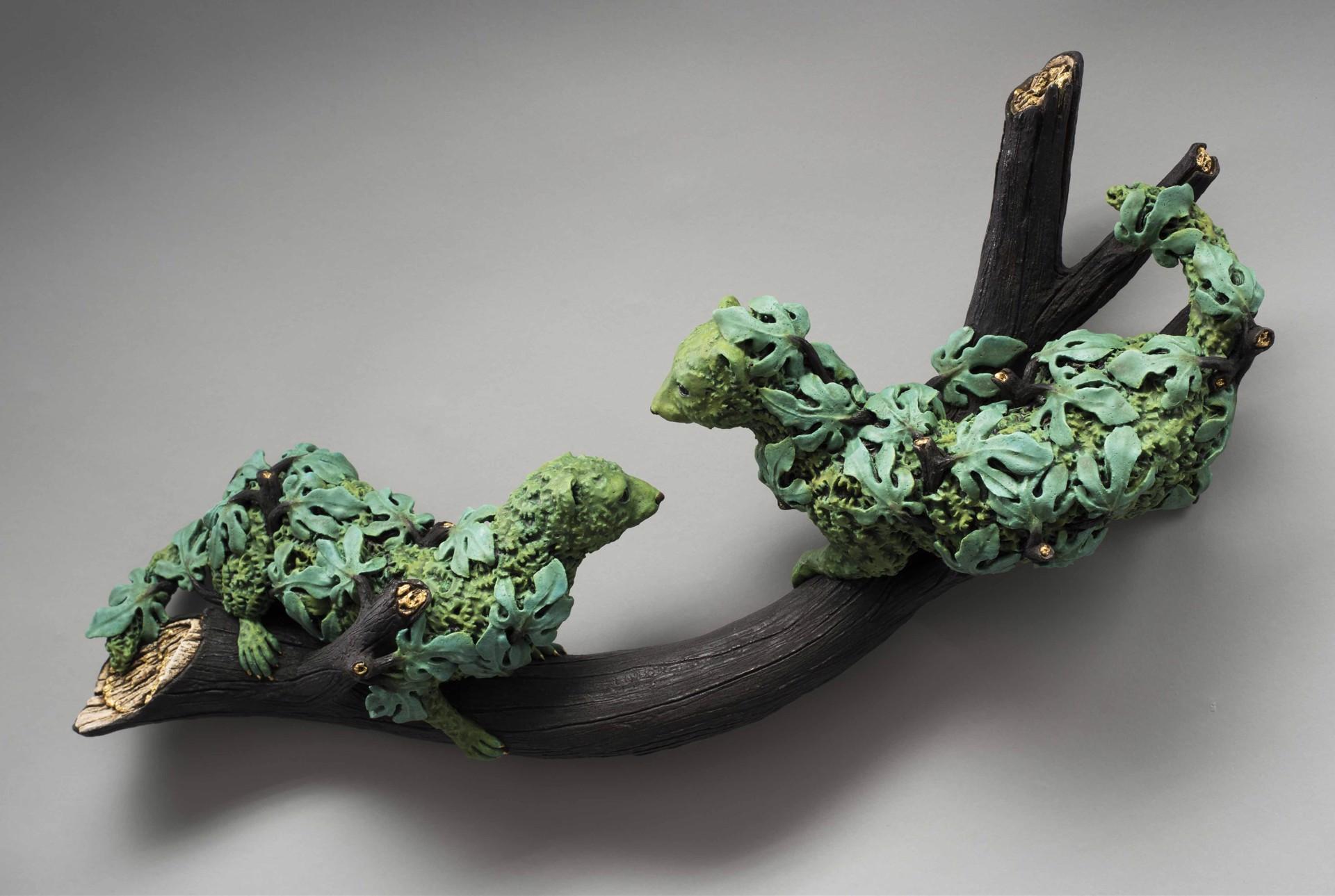 """Broken Branch, Tree of Life, Weasels"" by Adrian Arleo"